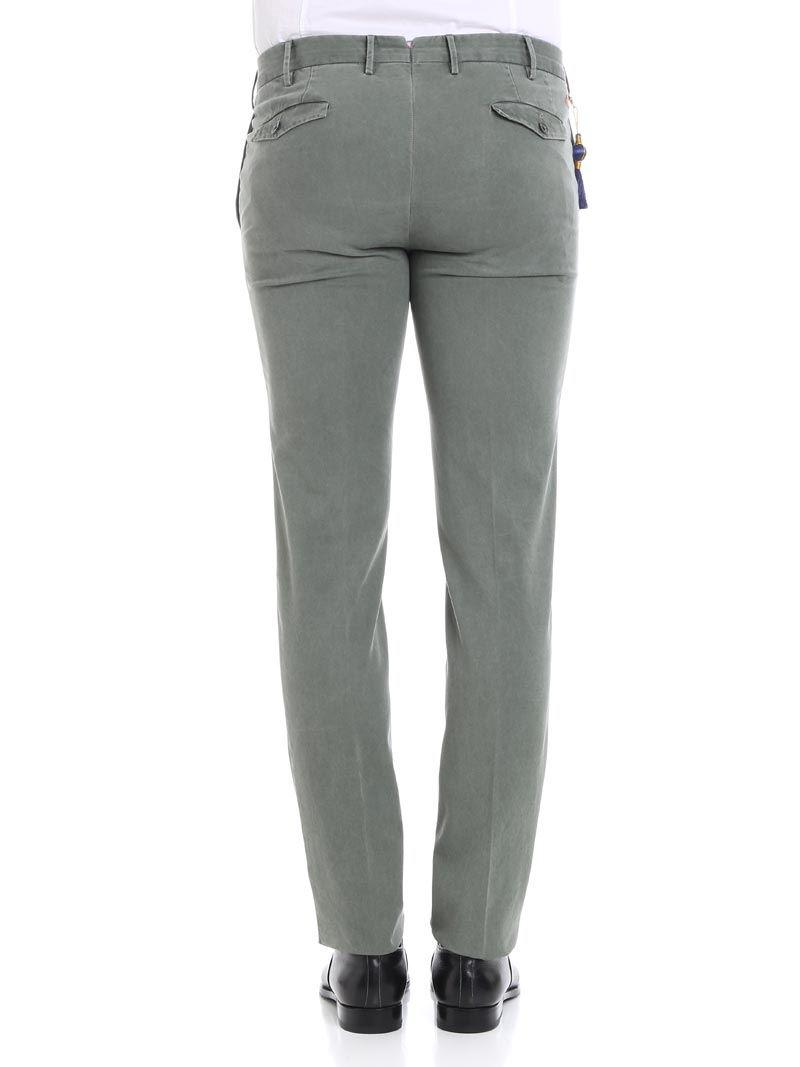 PT01 Cotton Spice Route Trousers in Grey for Men