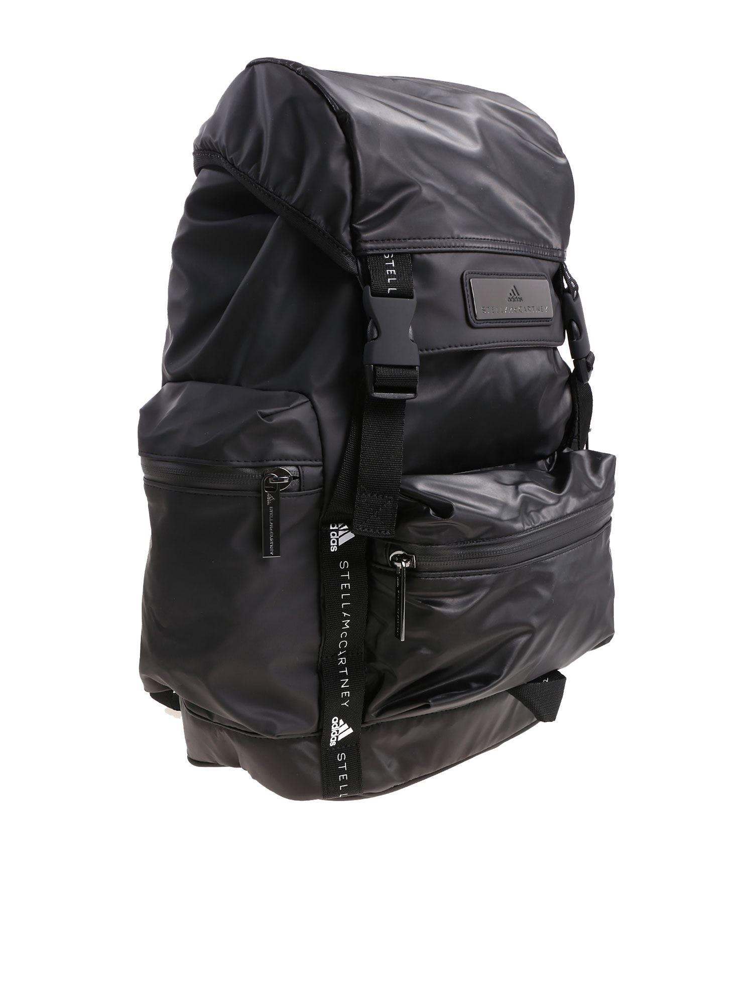 adidas By Stella McCartney Synthetic Black Recycled Technical Fabric Backpack for Men