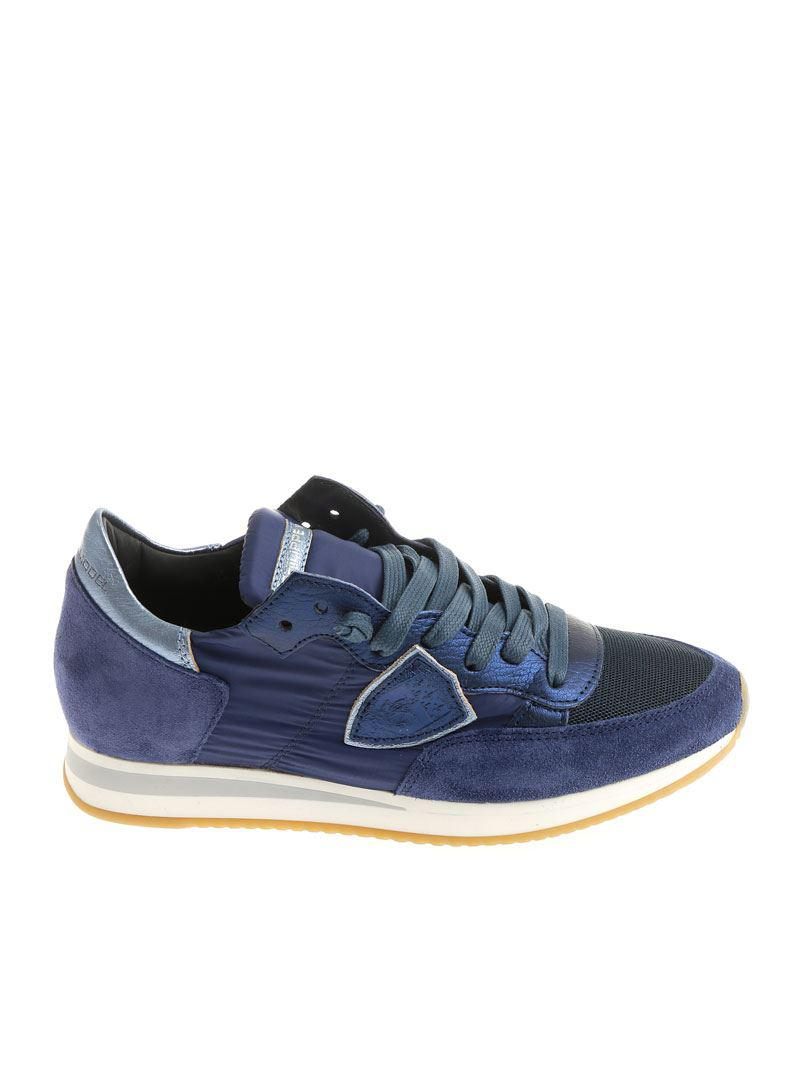 Philippe Model Suede Blue Tropez L Sneakers