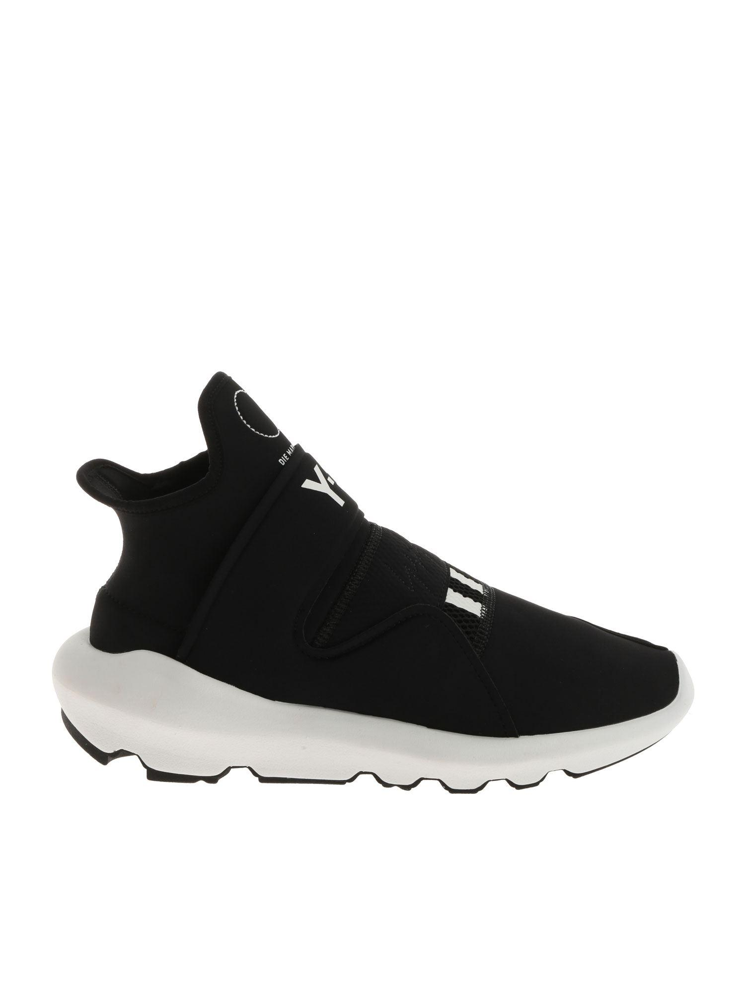 meet 39fd0 fedf2 Y-3. Women s Black Suberou Trainers With Logo Details