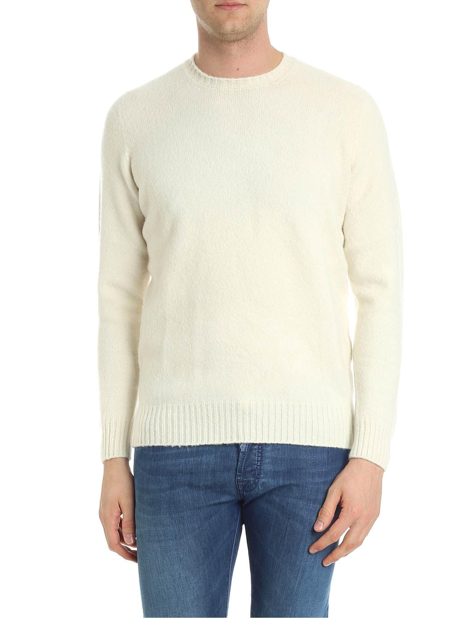 Wool Drumohr Lyst Lamb For Pullover In Men White qtwgfvwR1