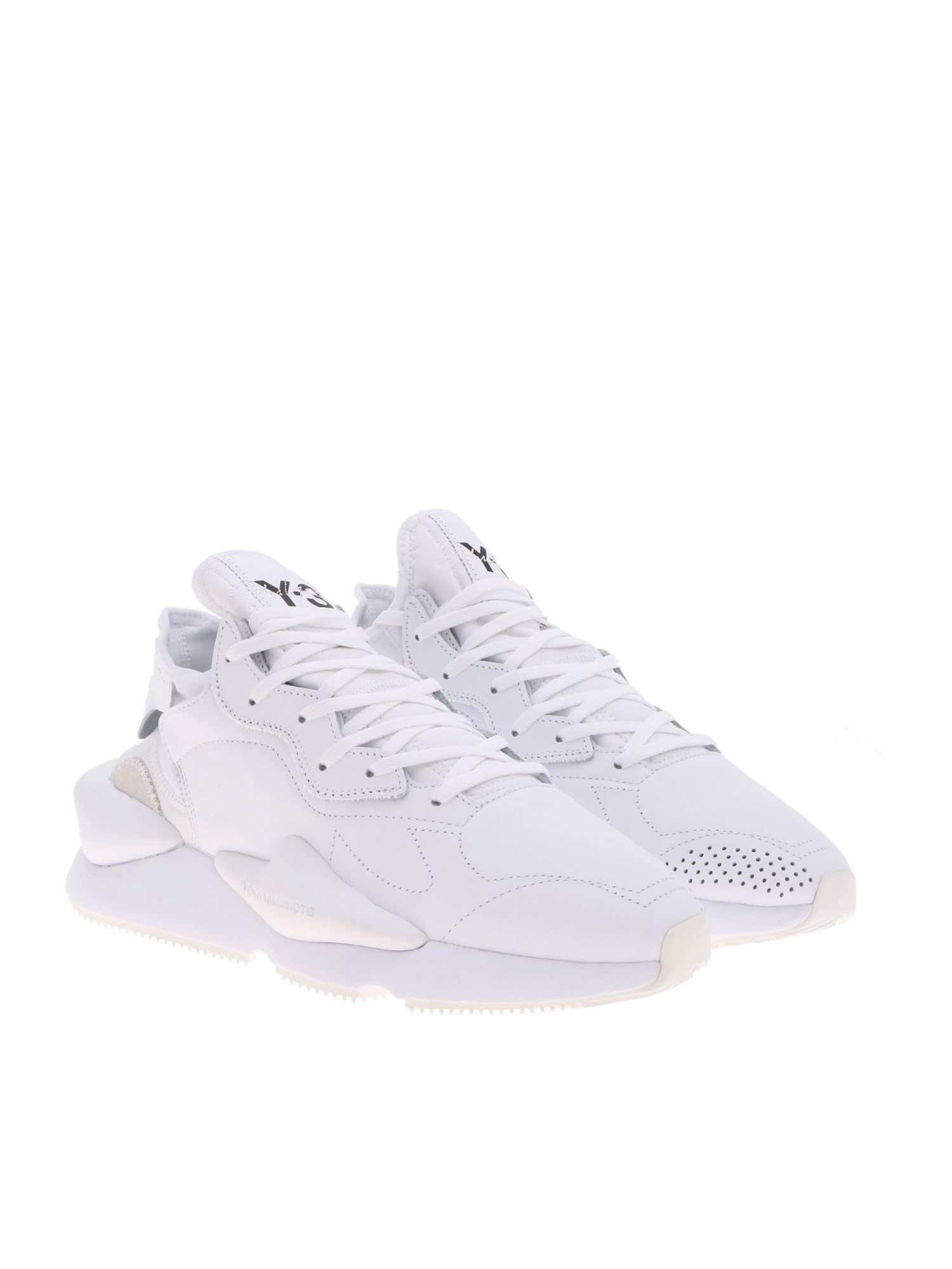 6fc50a1cb Y-3 Kaiwa Sneakers In White Leather in White for Men - Lyst