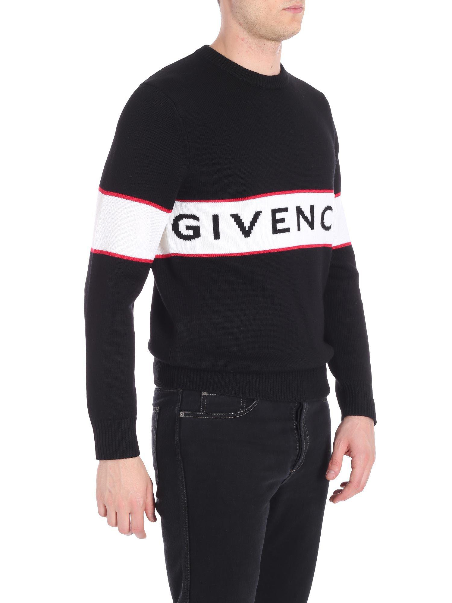 1eae012f2e18 Givenchy Logo Intarsia Jumper in Black for Men - Save 16% - Lyst