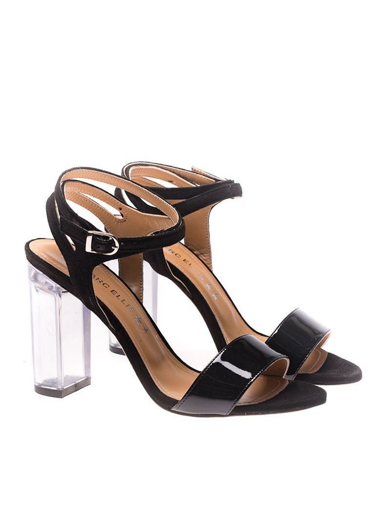 Patent leather and suede sandals Marc Ellis