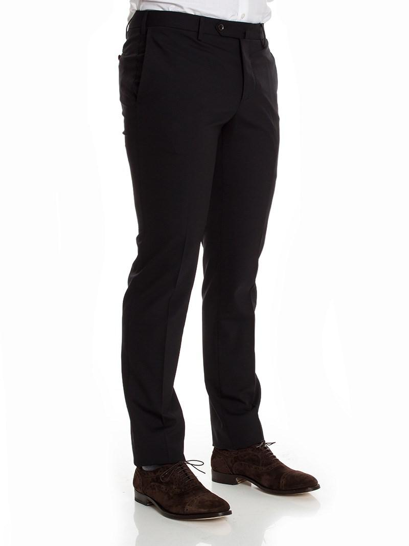 PT01 Wool Business Trousers in Black for Men