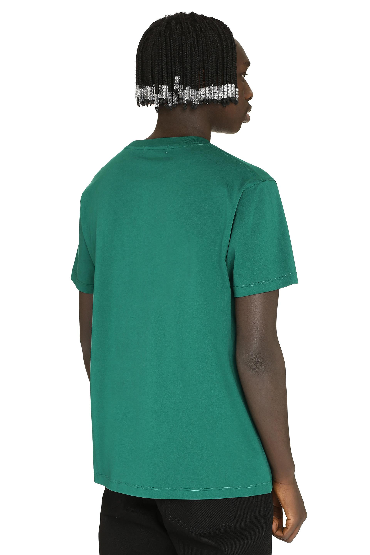 T-shirt in cotone con stampa da uomo di colore verde