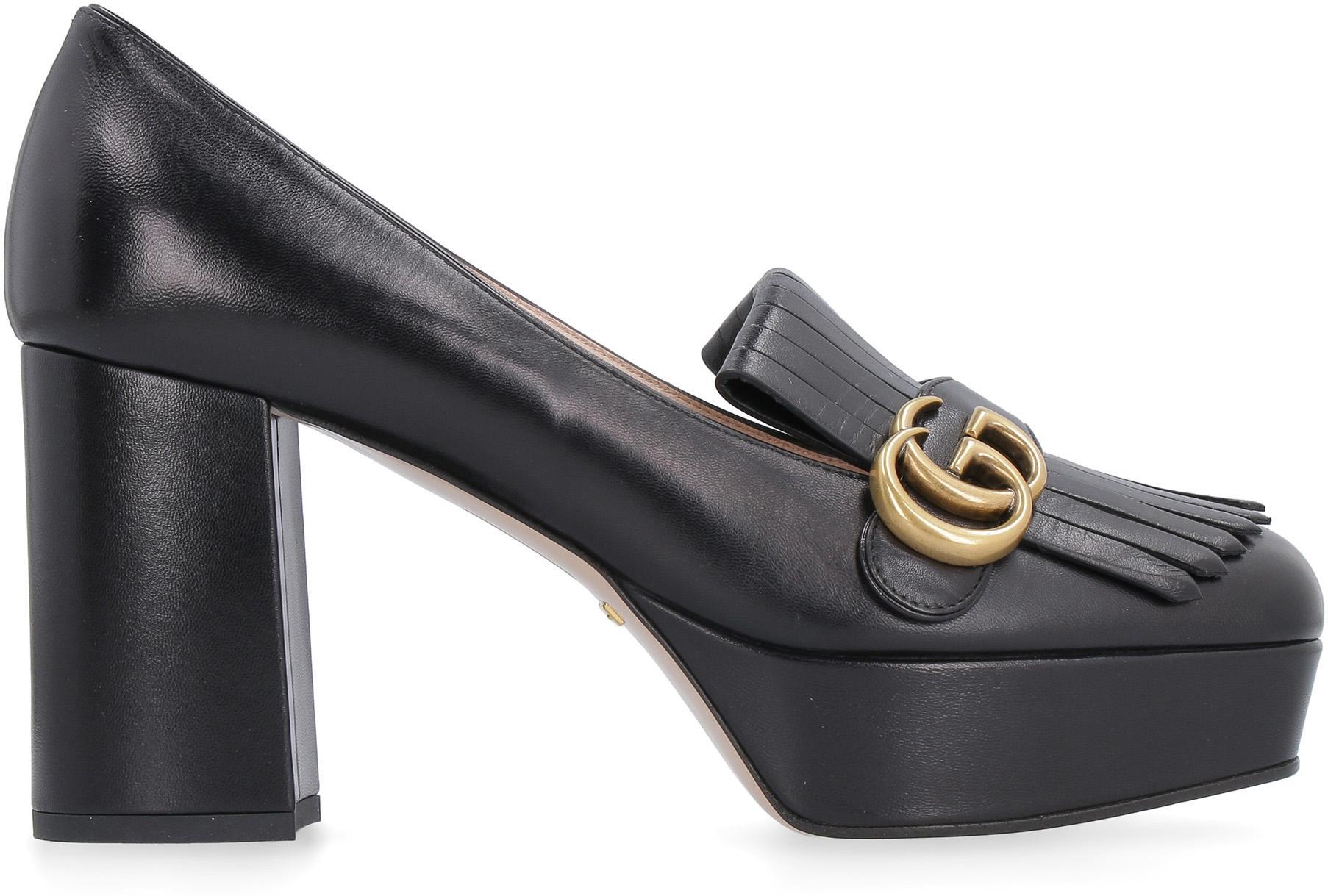 Gucci Leather Houdan 15 Platform Loafer