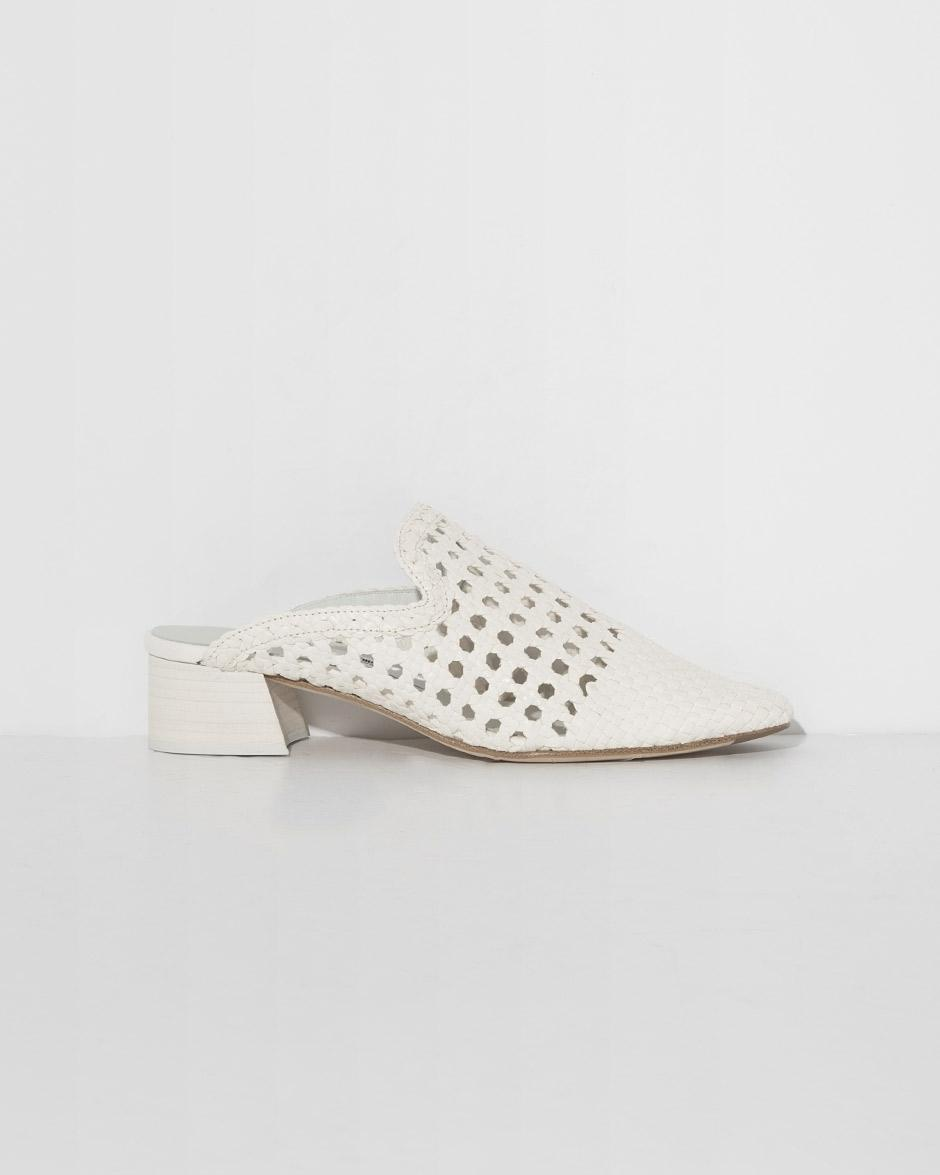 61ee7d9c0c Miista Ida Block Heel Mules in White - Save 40% - Lyst