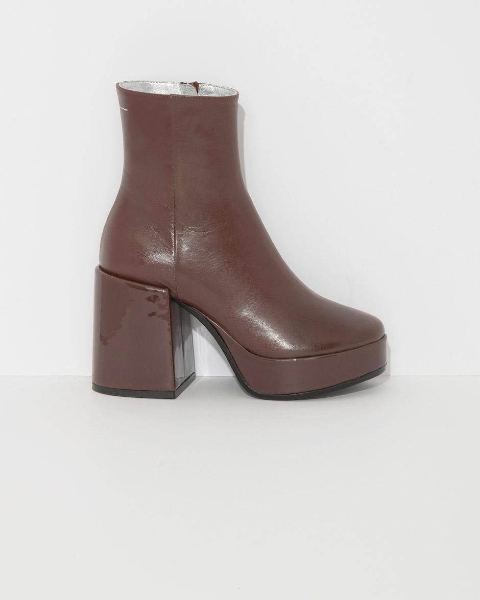 bde2e3dde27d16 Lyst - MM6 by Maison Martin Margiela Platform Ankle Boots in Brown