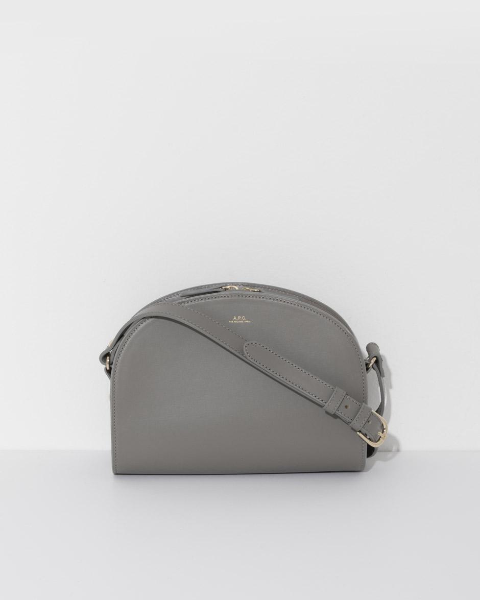 lyst a p c sac demi lune in gray. Black Bedroom Furniture Sets. Home Design Ideas