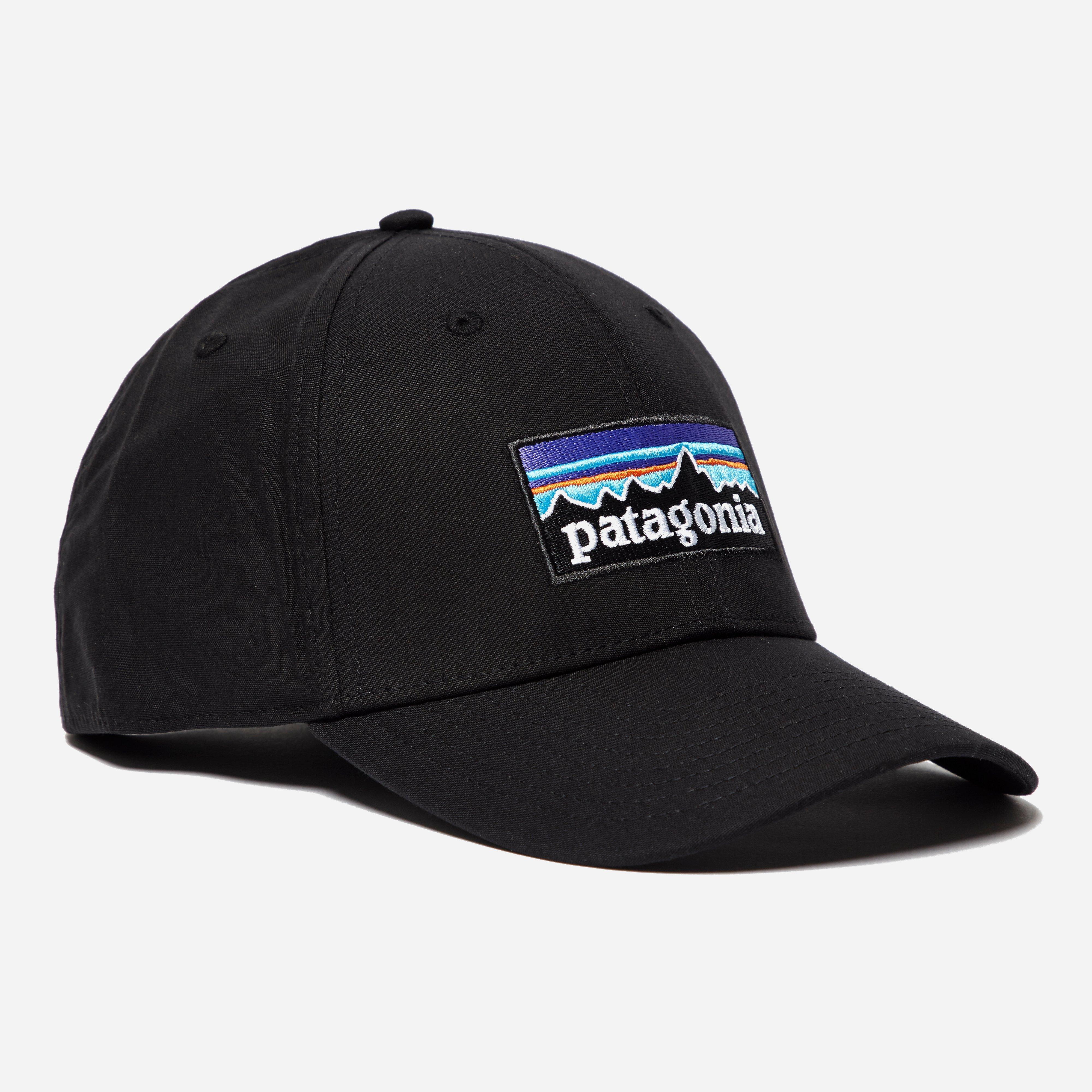 49c5113370a Lyst - Patagonia P-6 Logo Stretch Fit Hat in Black for Men