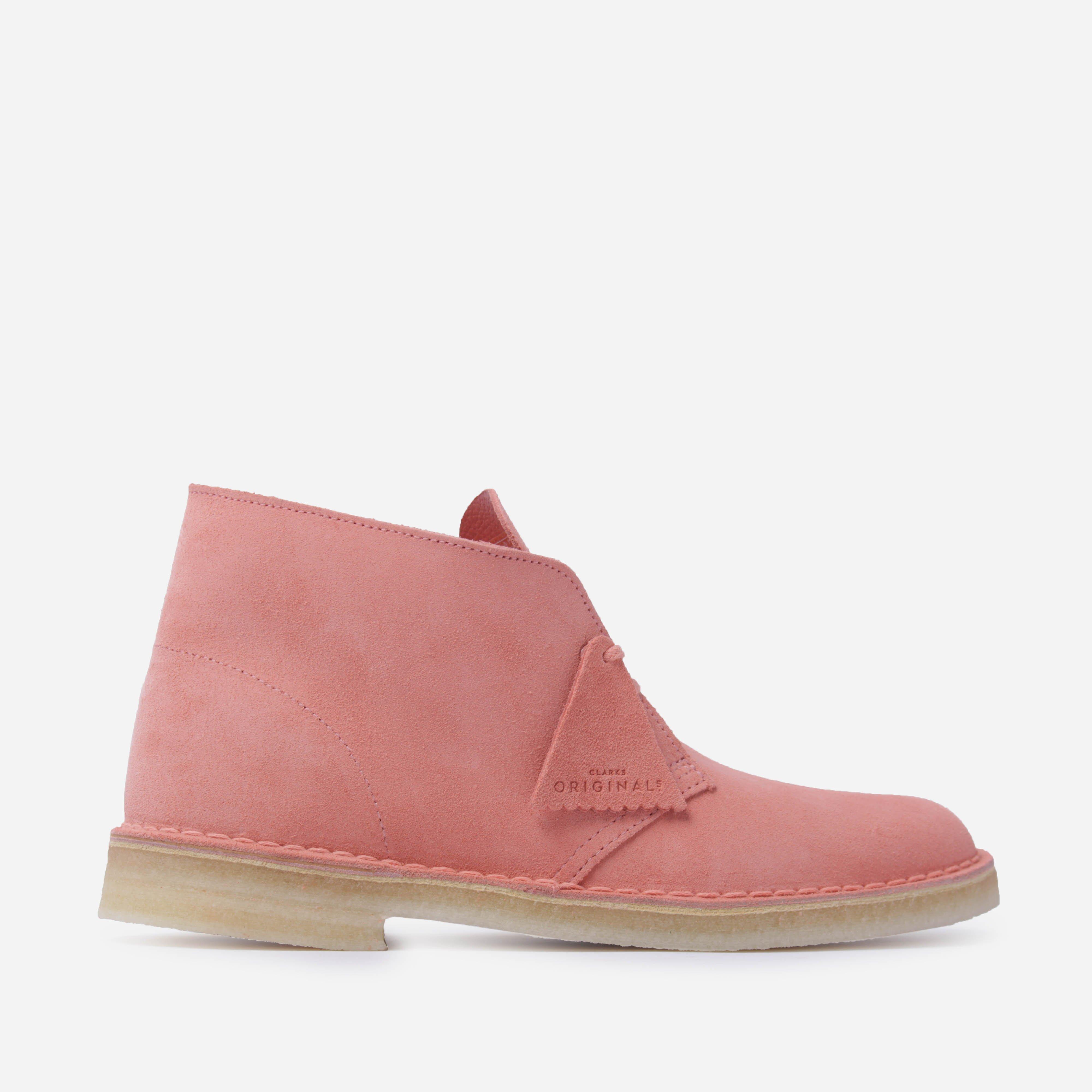Clarks Desert Boot in Pink for Men - Lyst