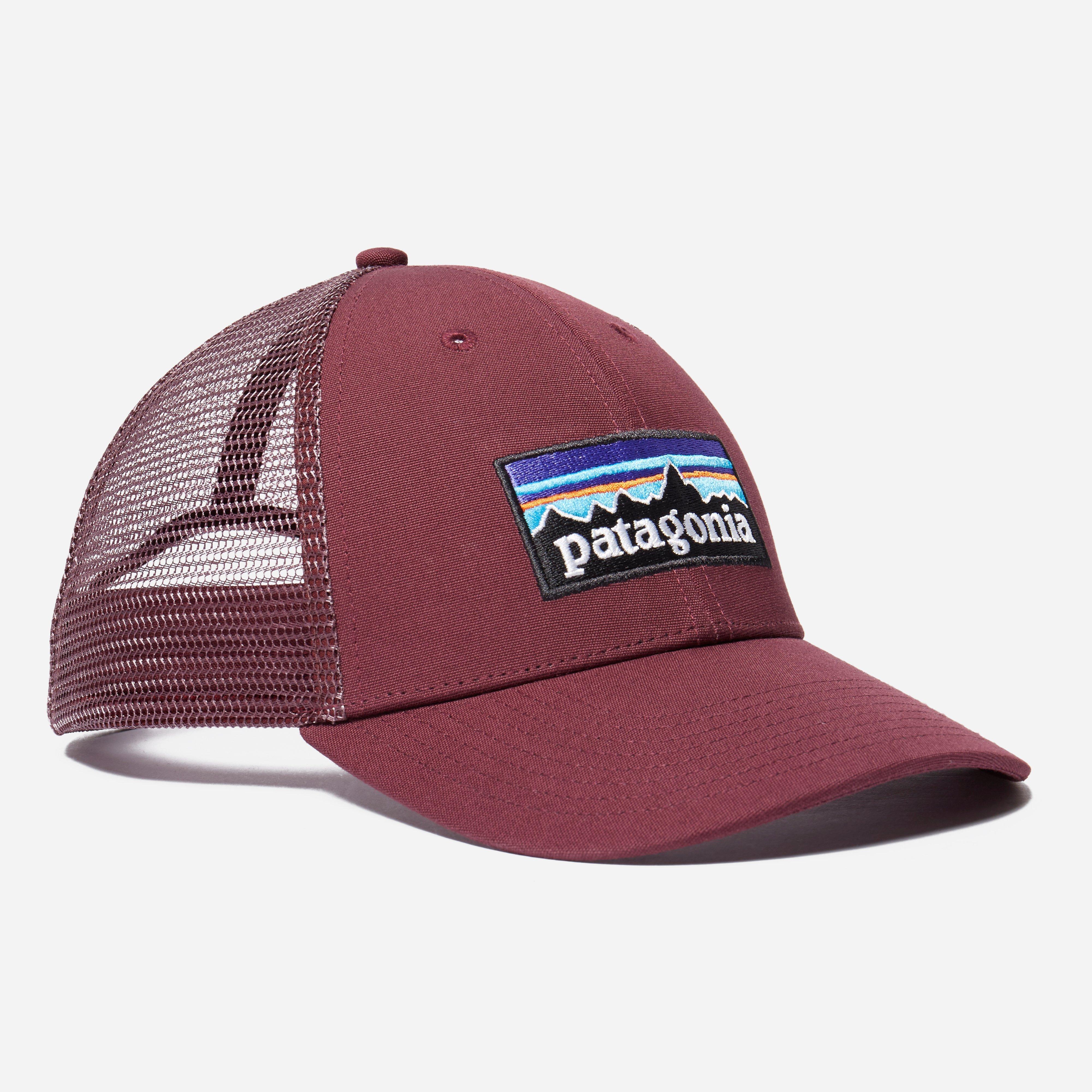 8706cb1f4 Patagonia Purple P-6 Logo Lopro Trucker Cap for men