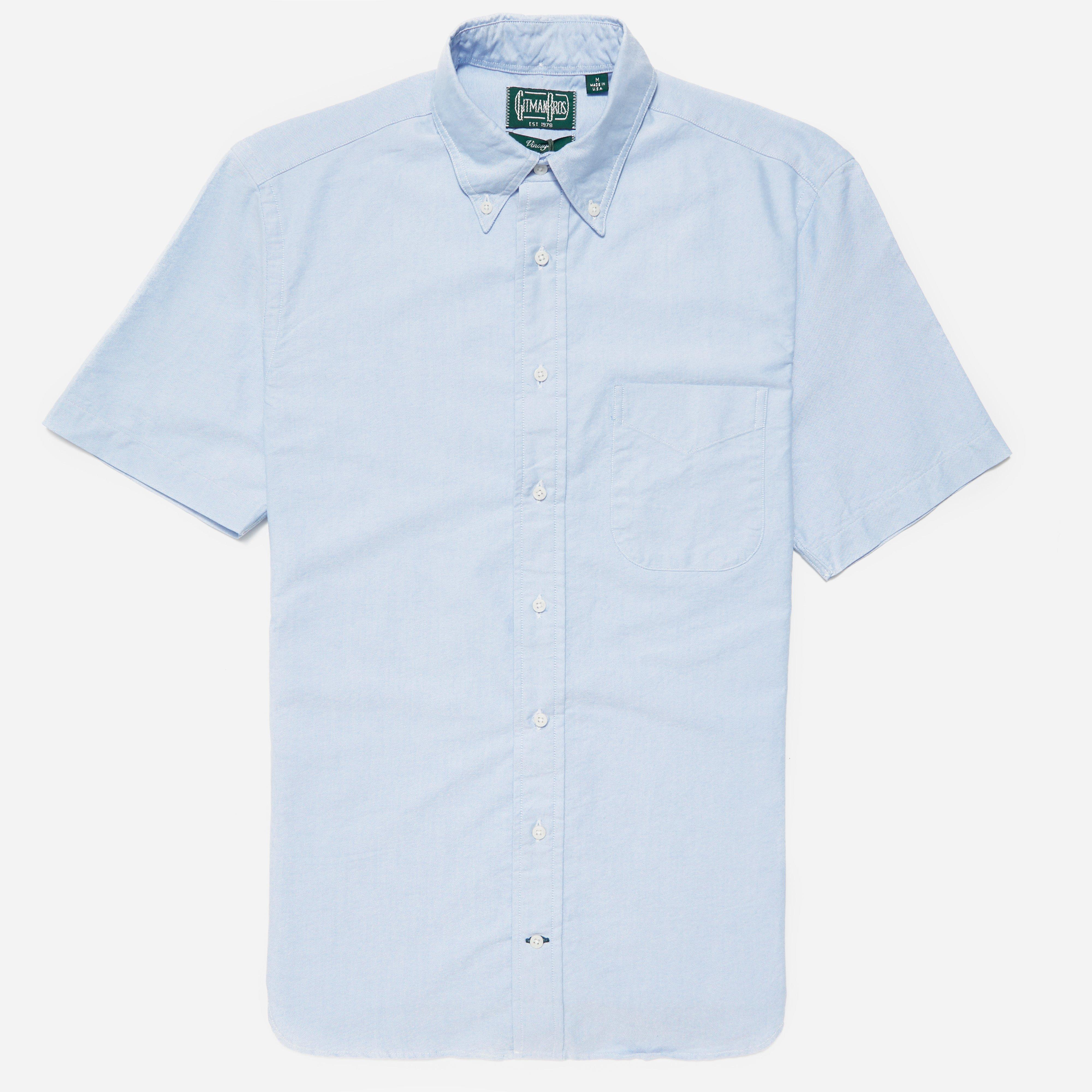 Gitman Brothers Vintage Short Sleeve Oxford Bd Shirt In