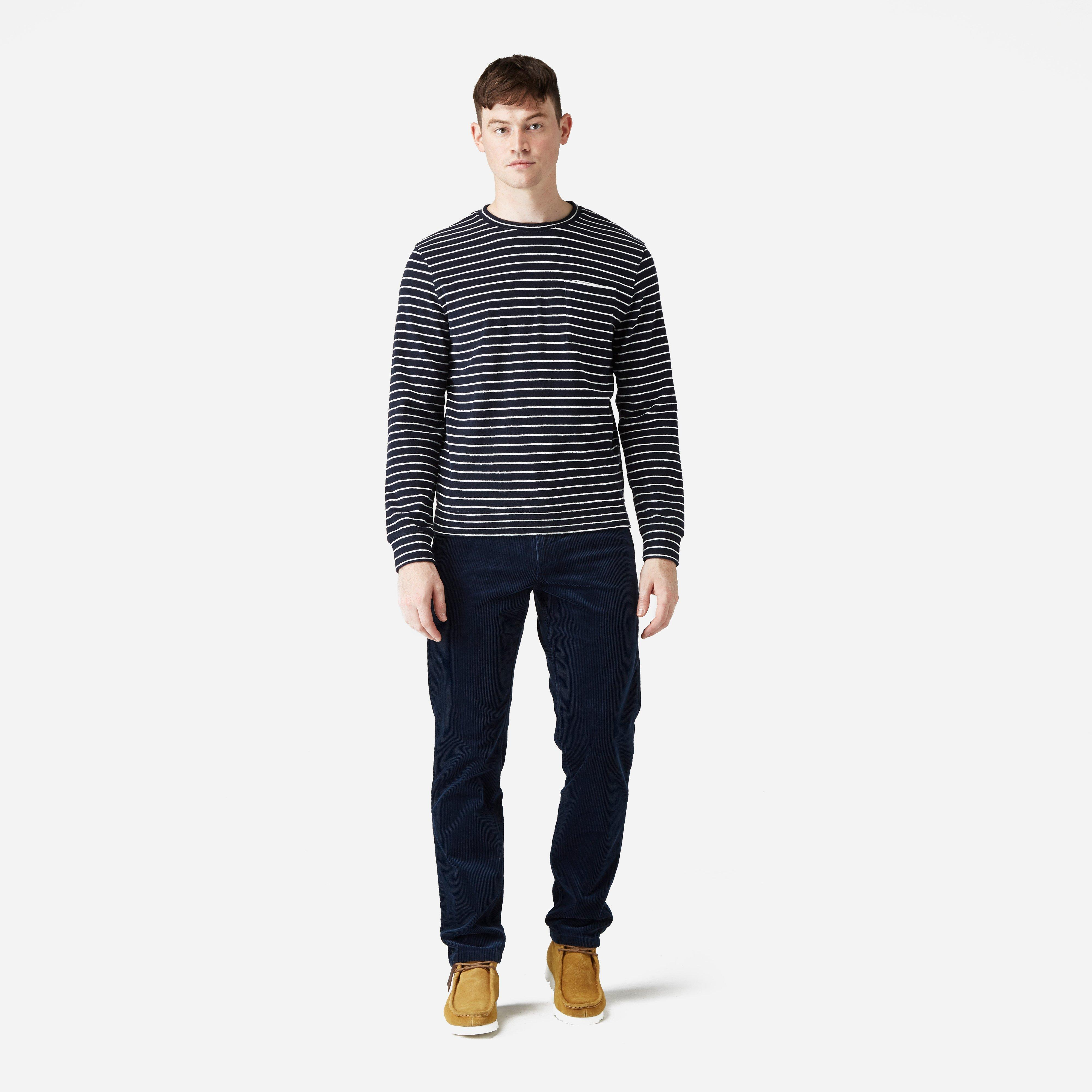 Norse Projects Aros Corduroy Trousers in Navy (Blue) for Men