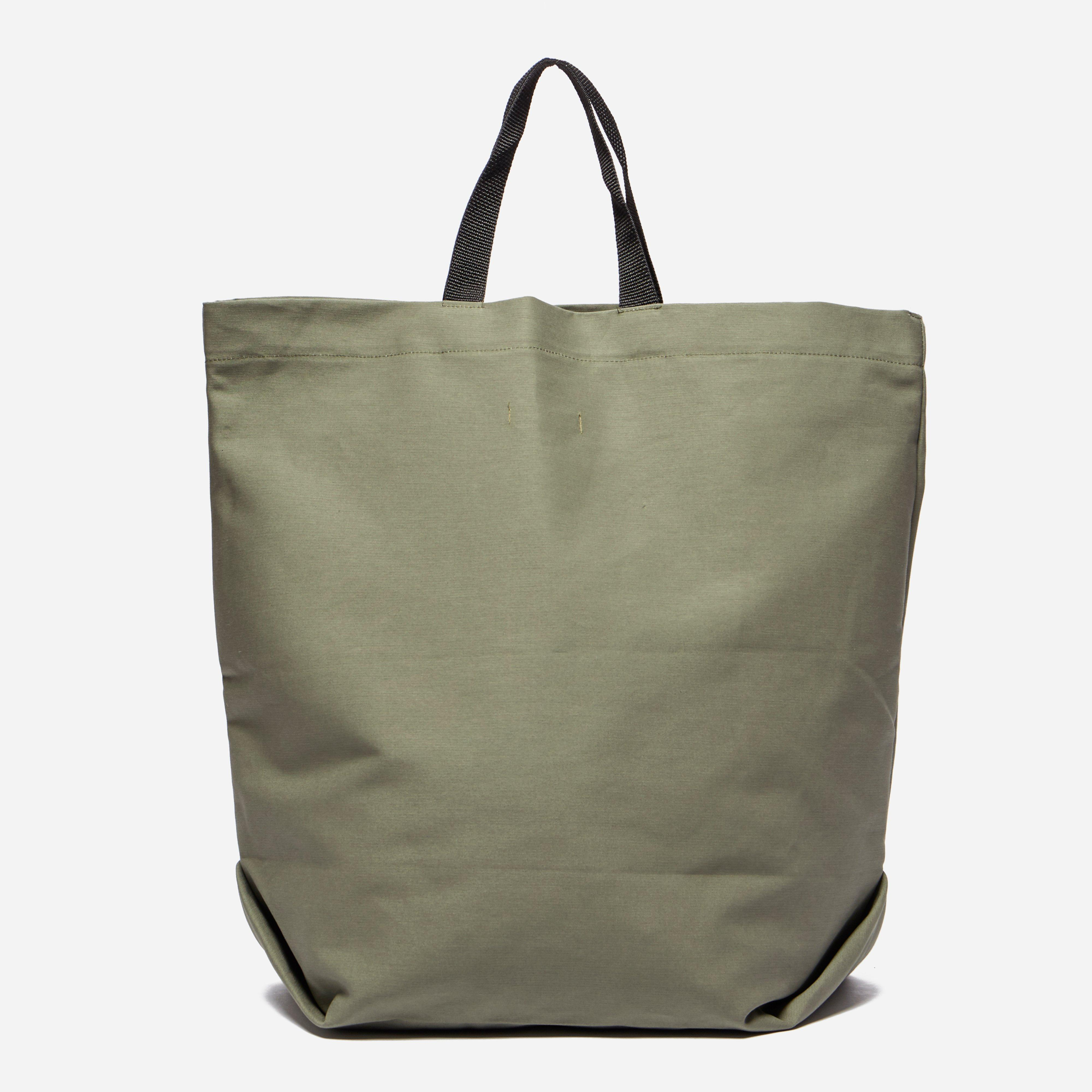Engineered Garments Carry All Tote Bag - Cotton Double Cloth in Olive (Green)
