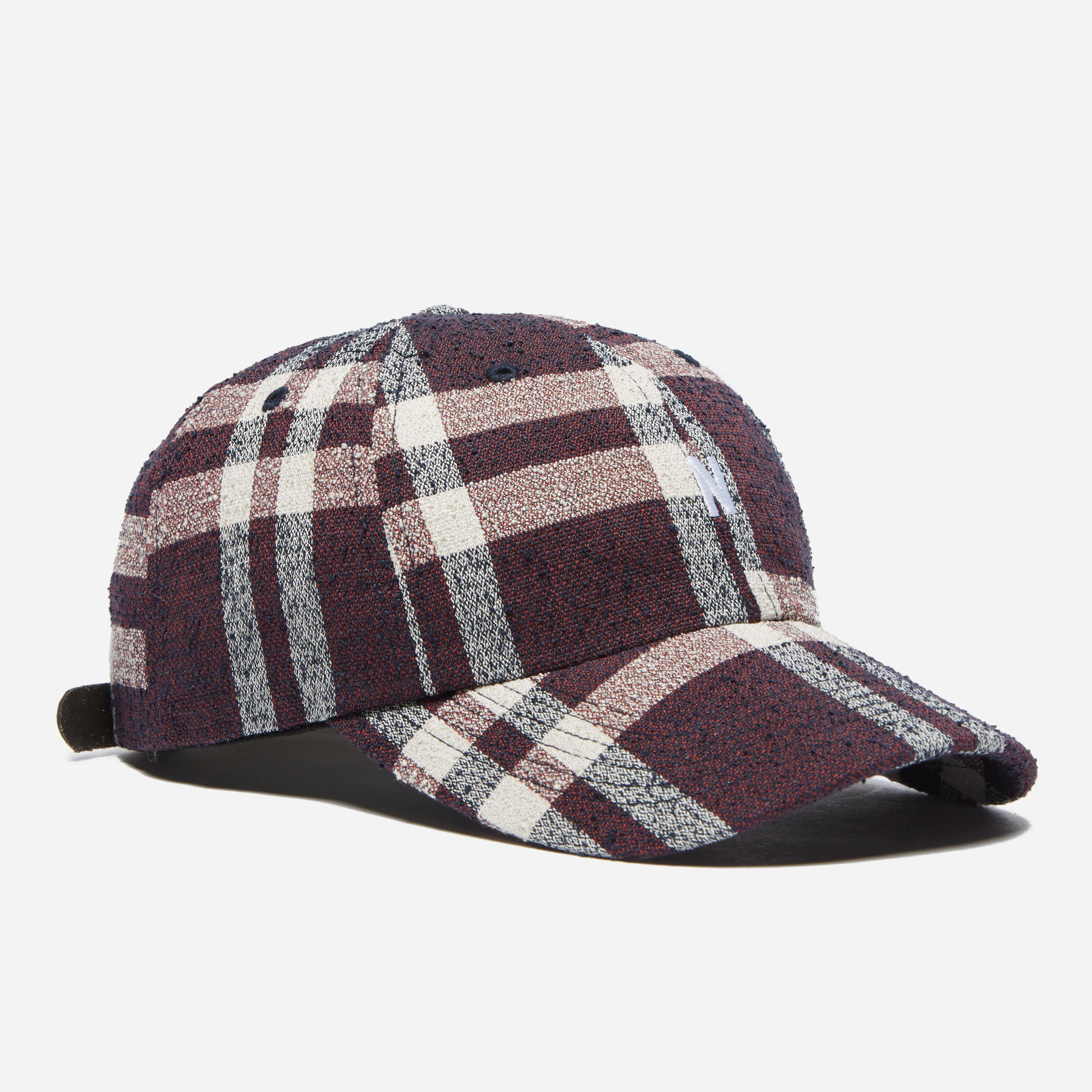 newest e8392 999ba Norse Projects Heavy Check Sports Cap in Red for Men - Lyst