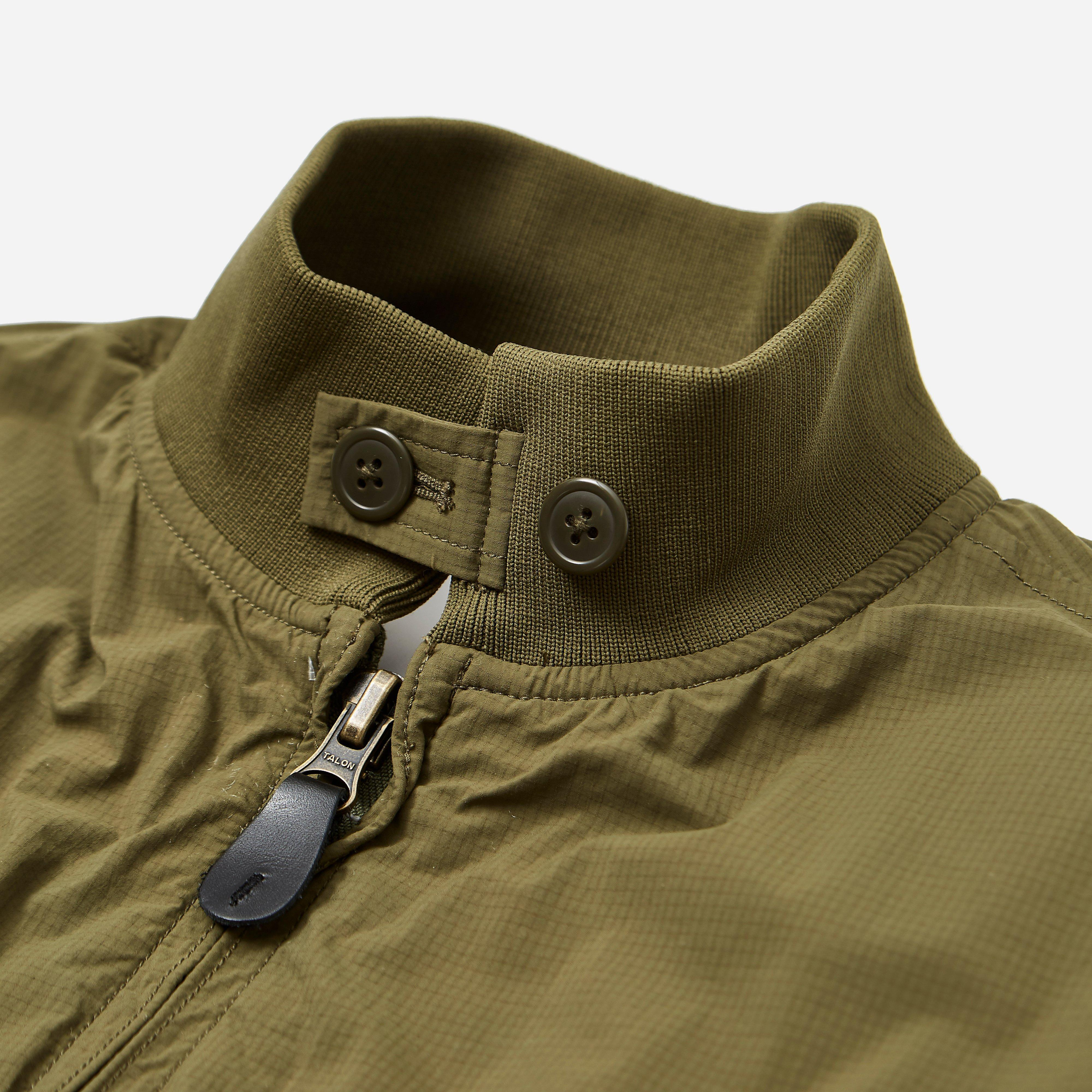 Beams Plus Synthetic Wep Nylon Ripstop Jacket in Olive (Green) for Men