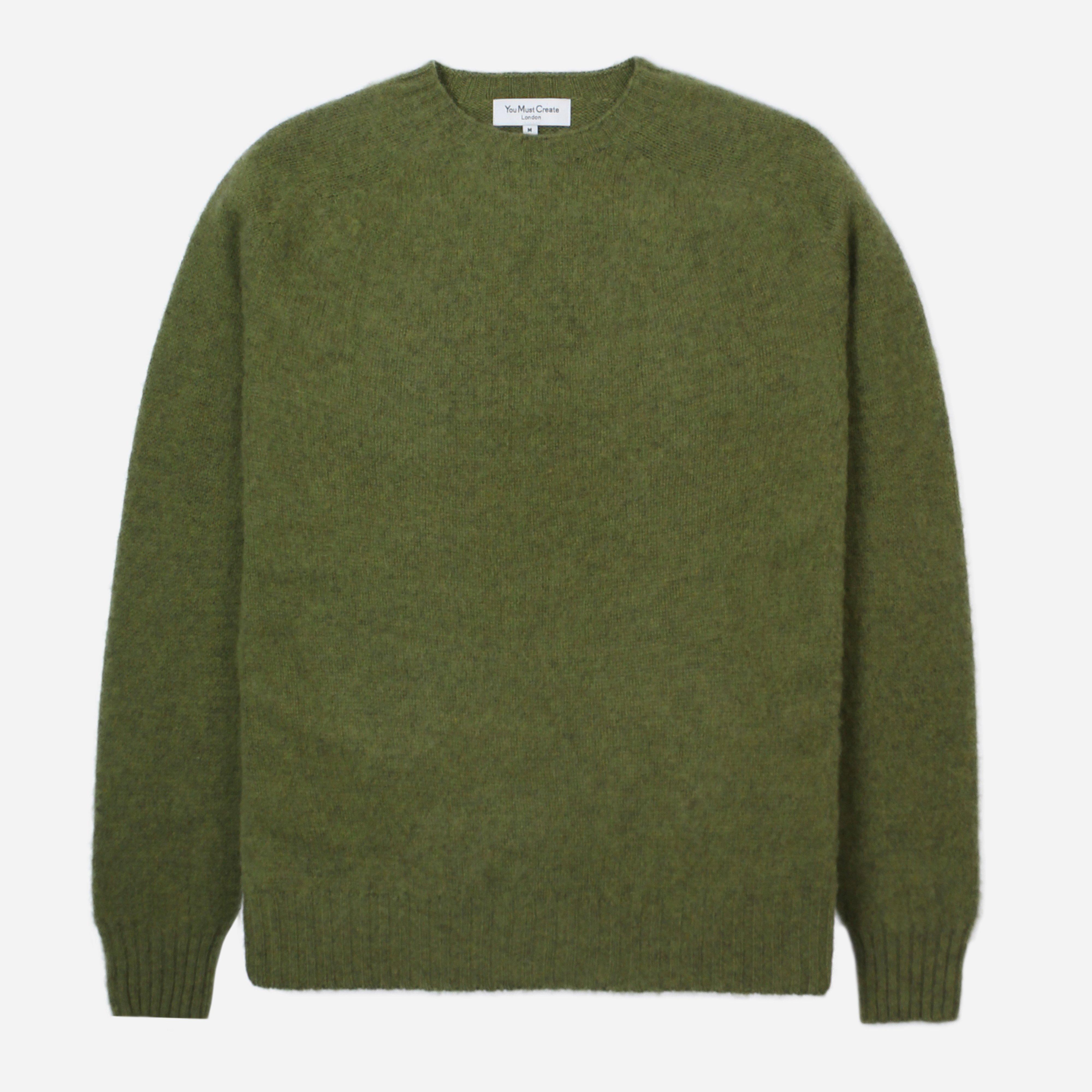 4f046be7876df3 Ymc Suedehead Crew Knit in Green for Men - Lyst