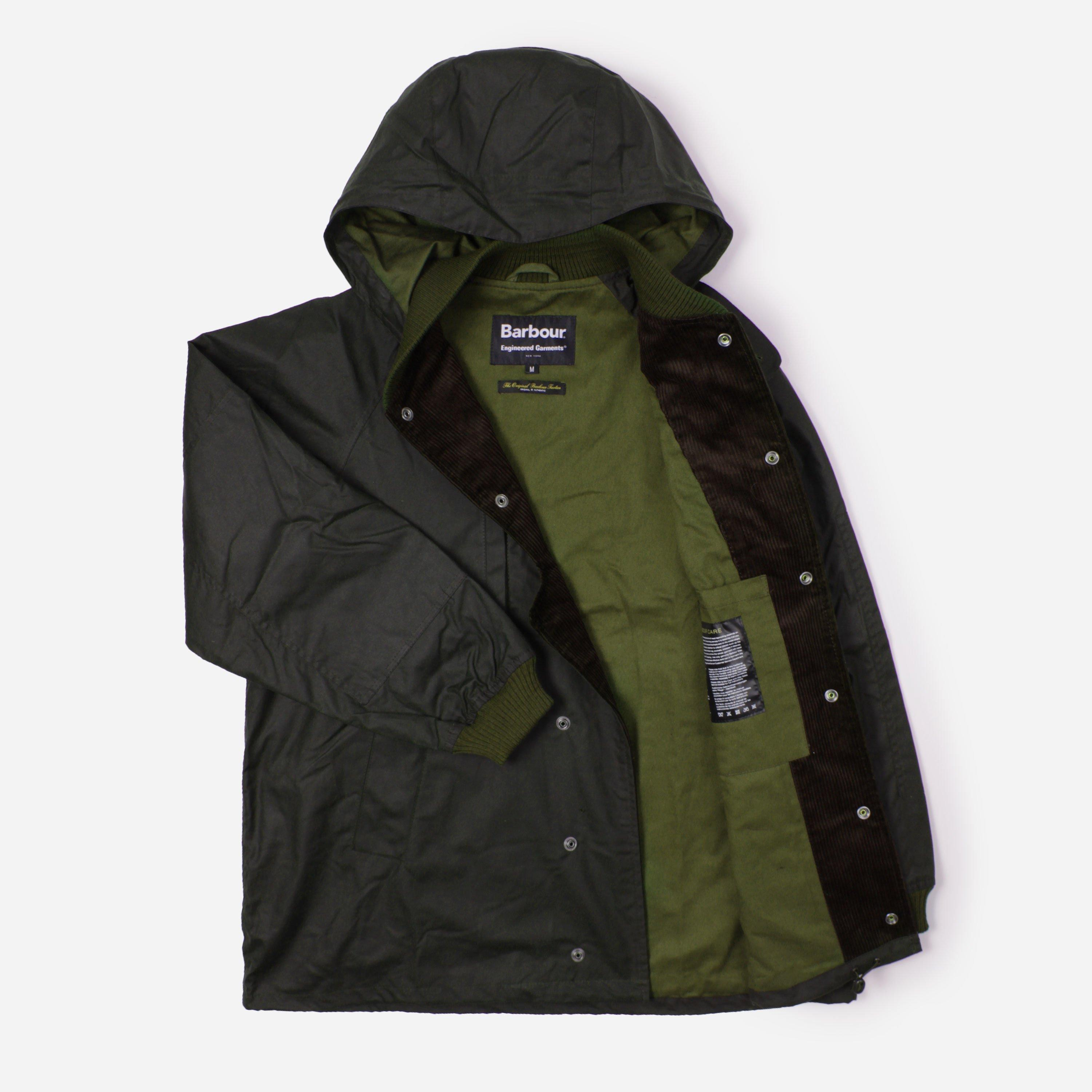green envelope clothing zipper top engineered garments highland parka
