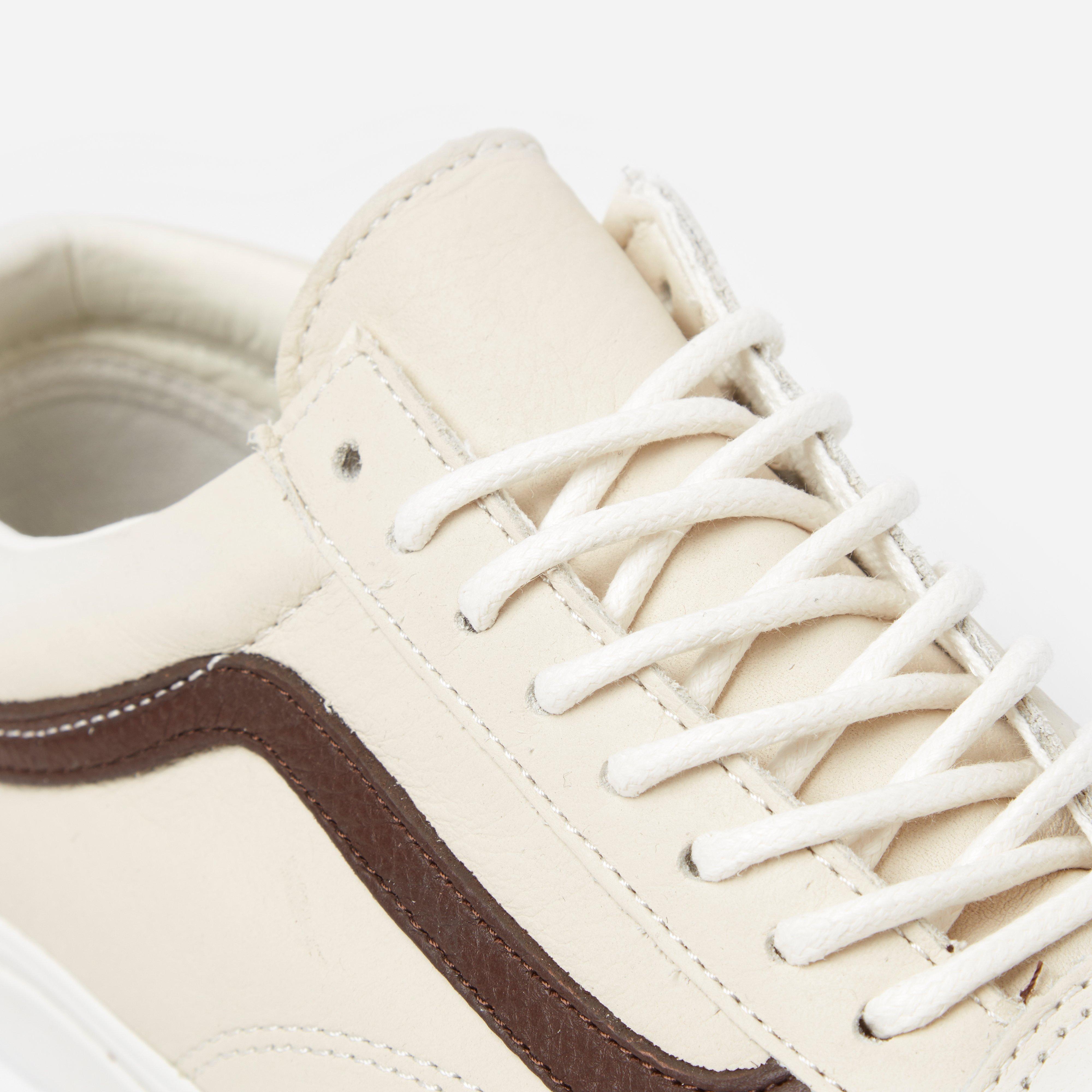 Vans Old Skool Leather in Cream (Natural) for Men