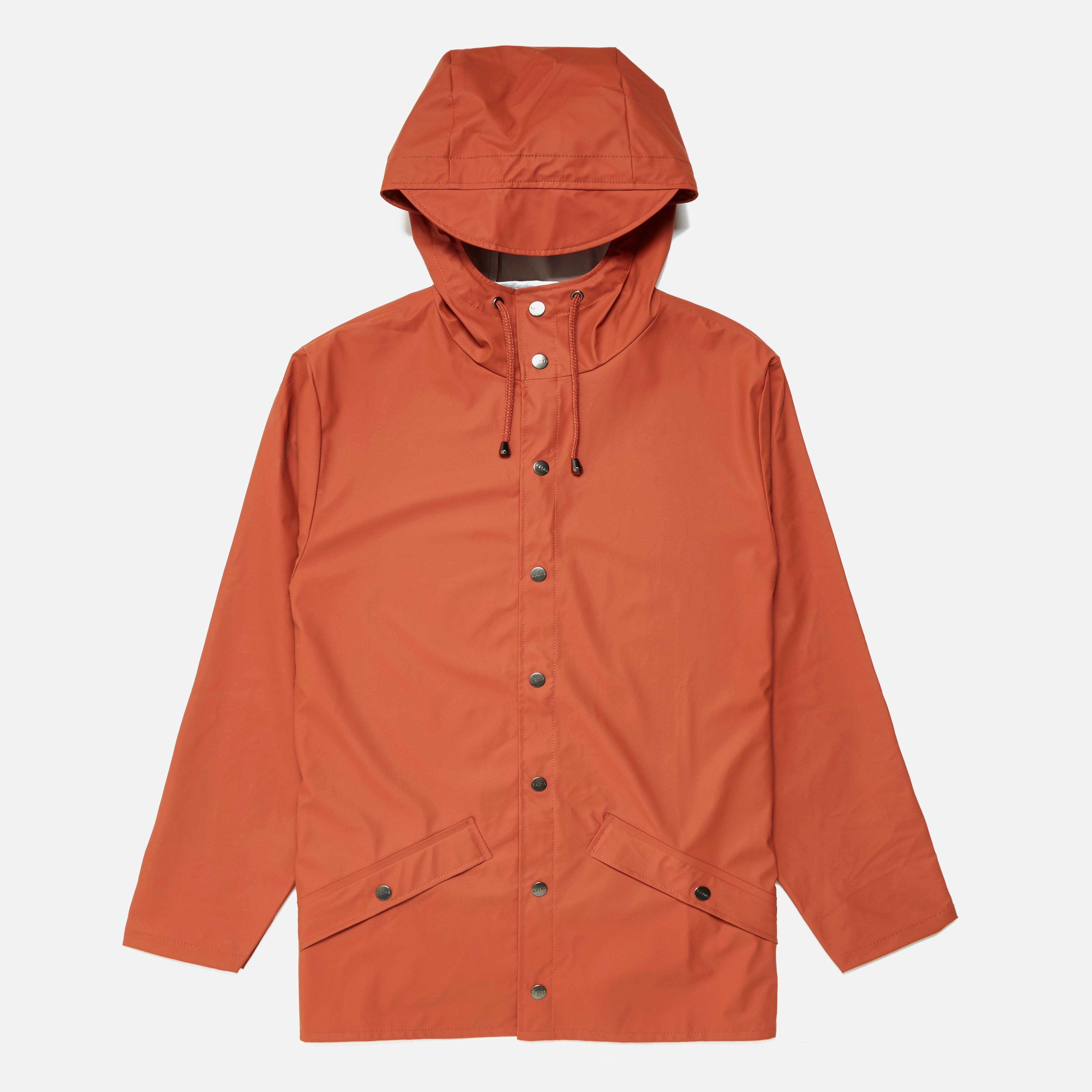 Rains Jacket In Orange For Men