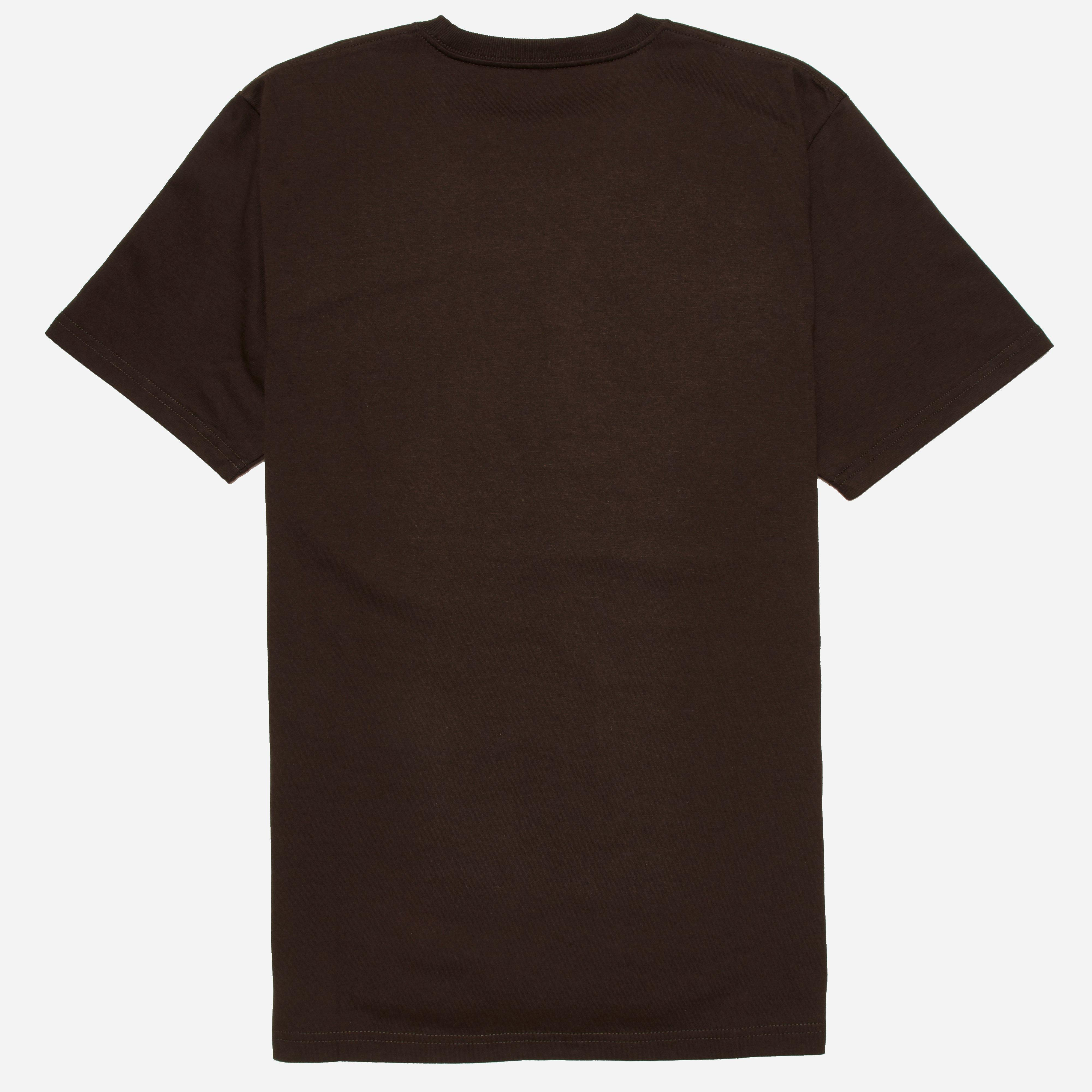 Lyst carhartt wip carhartt chase t shirt in brown for men for Carhartt burgundy t shirt