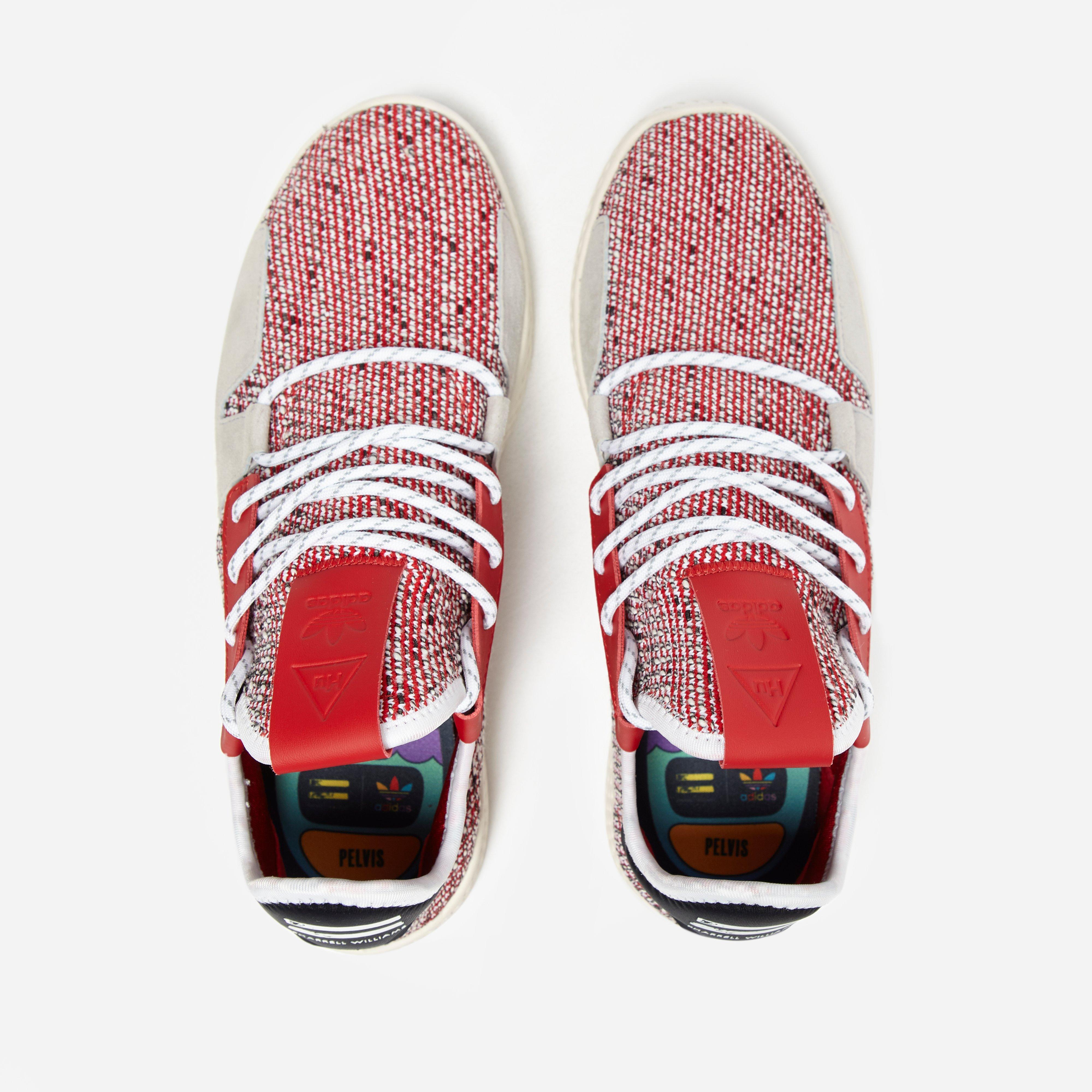 7c1bff7bb Adidas Originals - Red X Pharrell Williams Solar Hu Tennis V2  afro Pack   for. View fullscreen