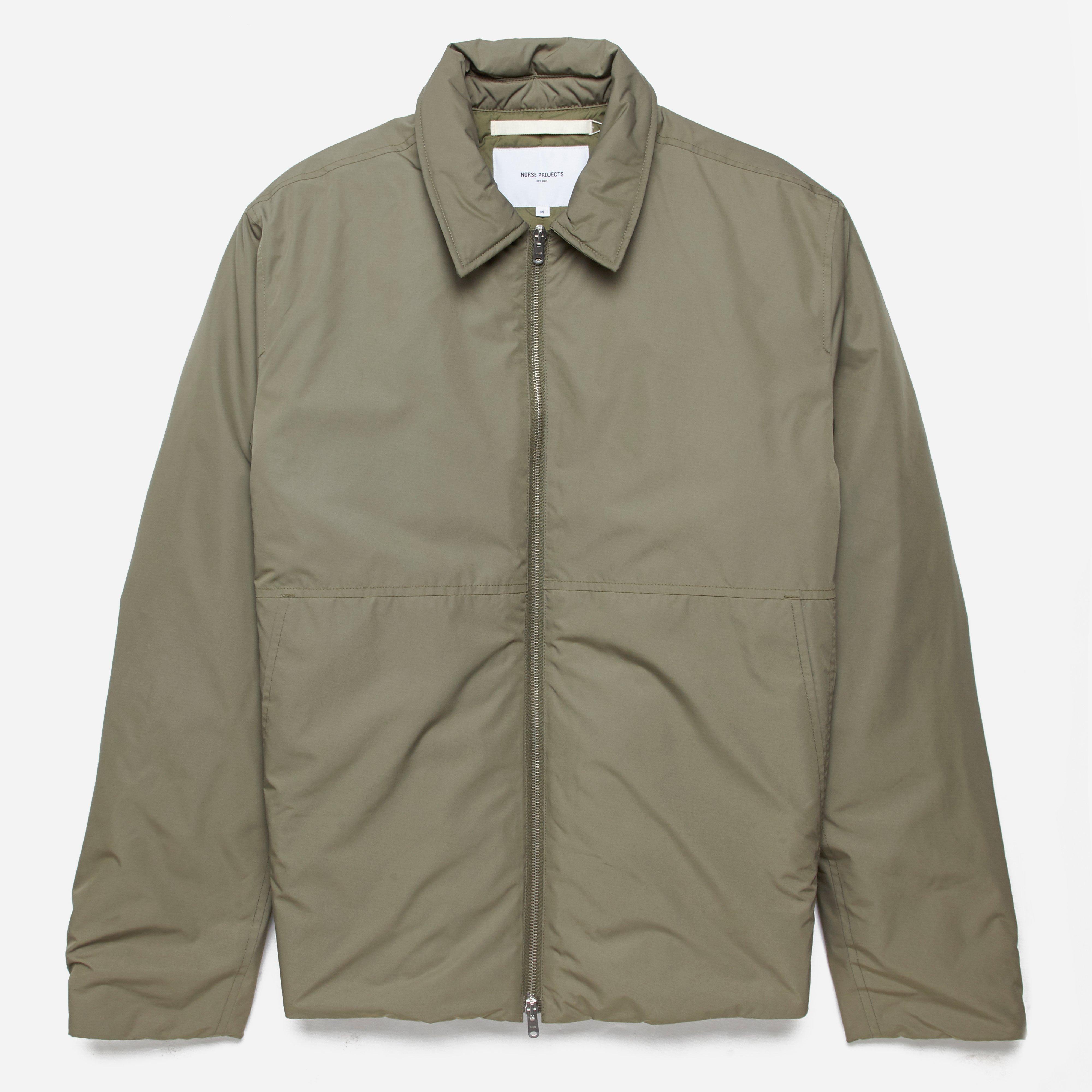 Norse Projects Synthetic Elliot Nylon Jacket in Khaki (Green) for Men