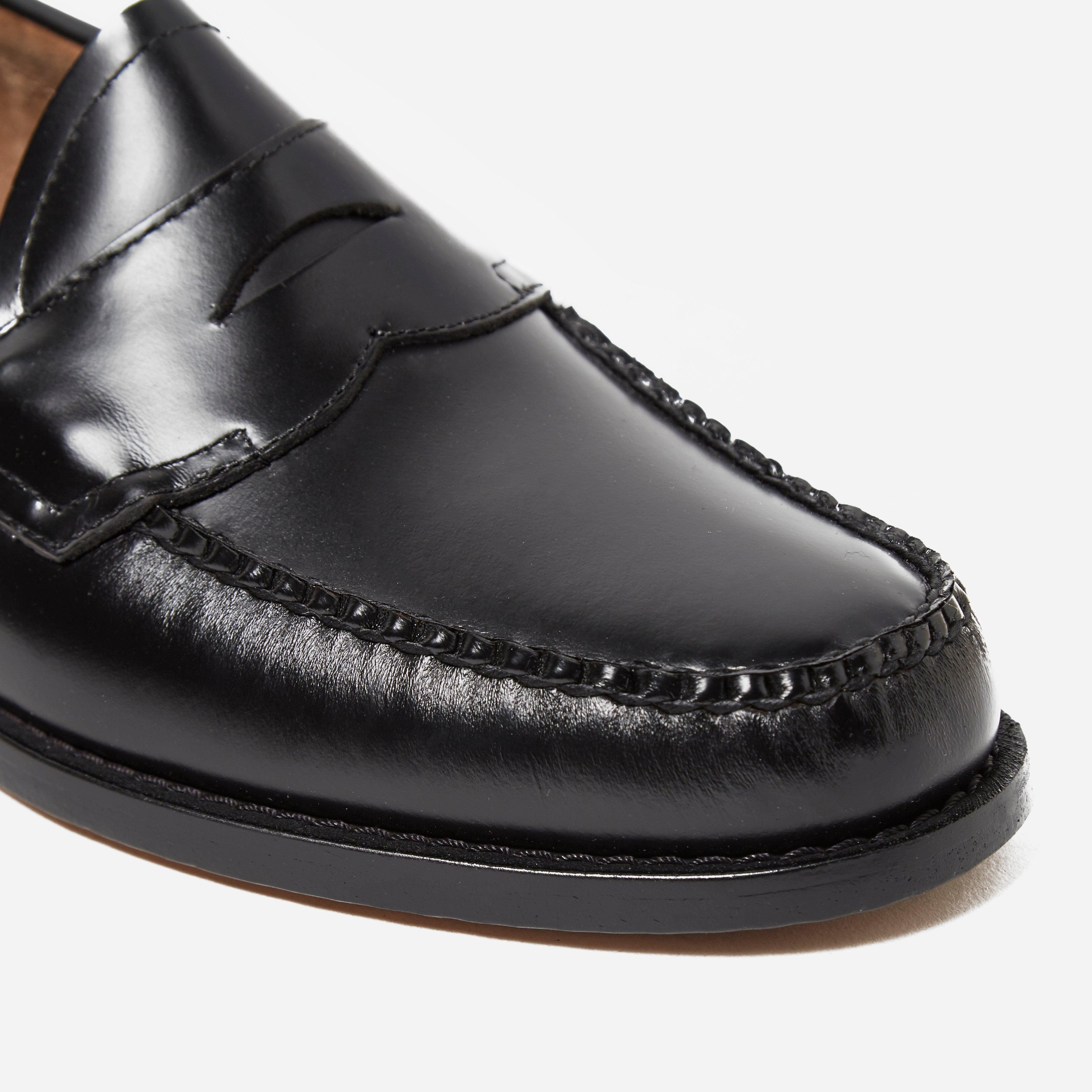 G.H.BASS Leather Bass Weejun Logan Penny Loafer in Black ...