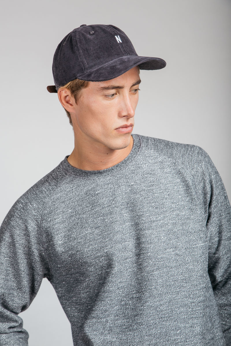 Lyst - Norse Projects Corduroy Sports Cap Charcoal for Men 568a323b900