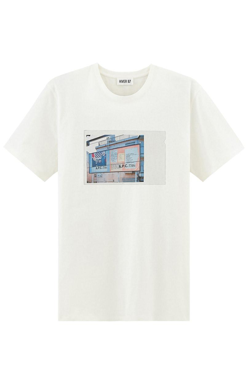 A p c t shirt tokyo in white for men lyst for Apc white t shirt