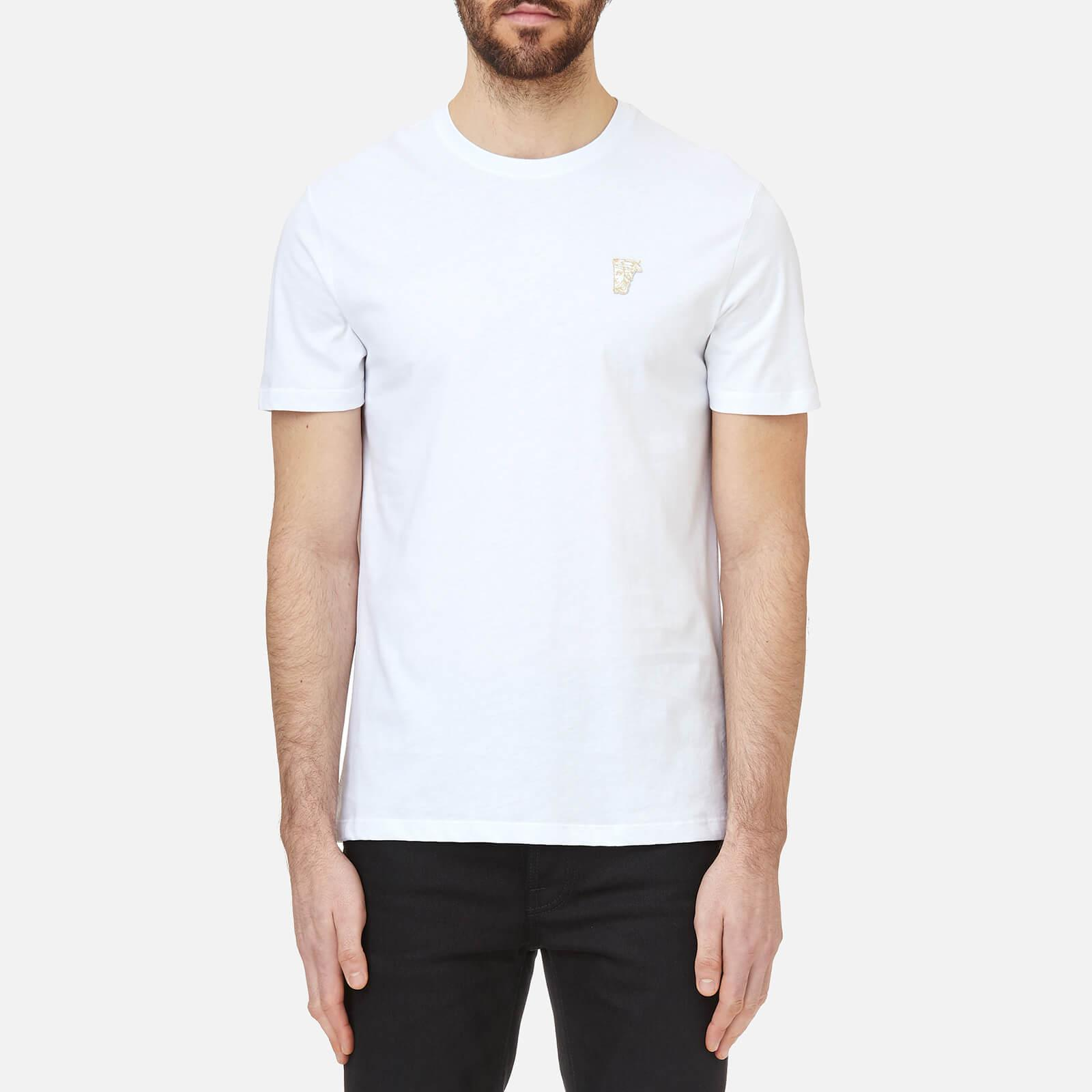 Lyst Versace Small Logo T Shirt In White For Men