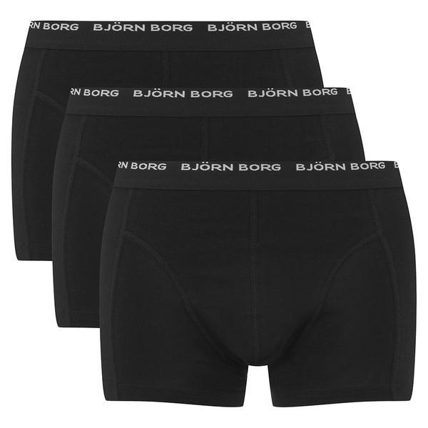 bj rn borg 3 pack trunk boxer shorts in black for men lyst. Black Bedroom Furniture Sets. Home Design Ideas