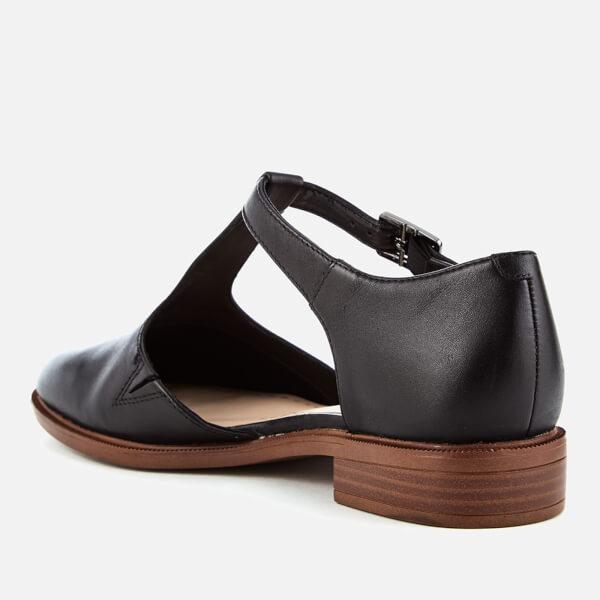 Clarks Shoes Taylor Palm Black Leather