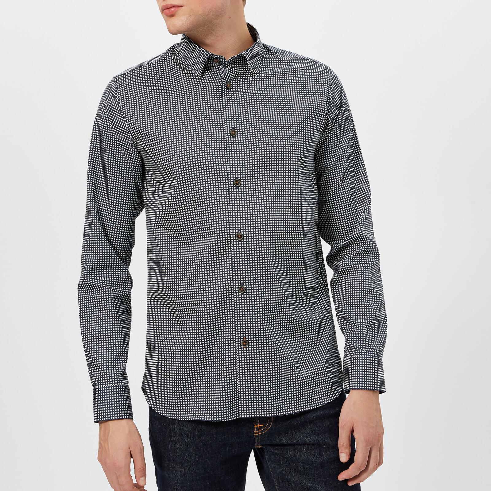 9b8fc3aad0dbd Ted Baker Jenkins Geo Print Long Sleeve Shirt in Blue for Men - Lyst