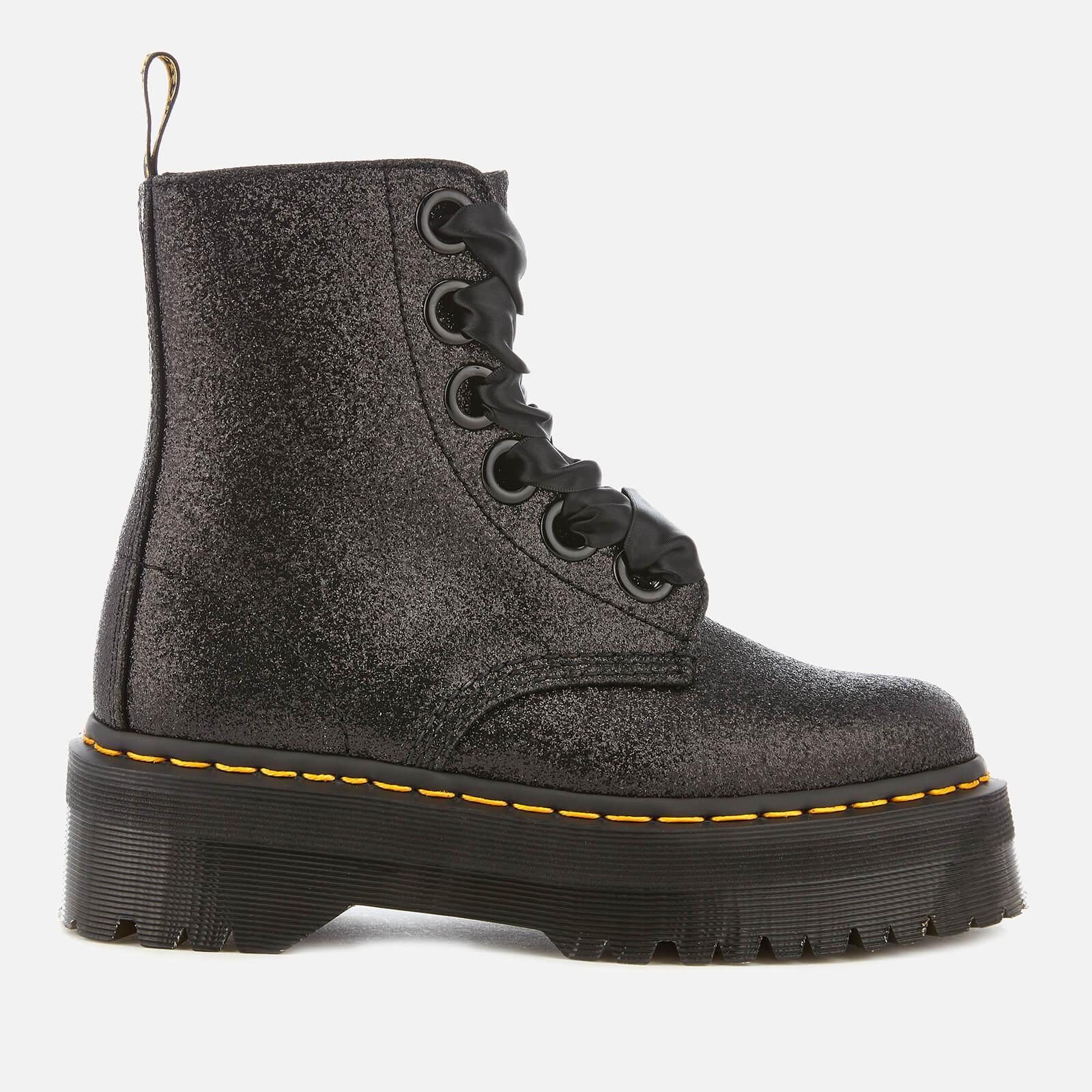 Black Glitter Molly Platform Boots