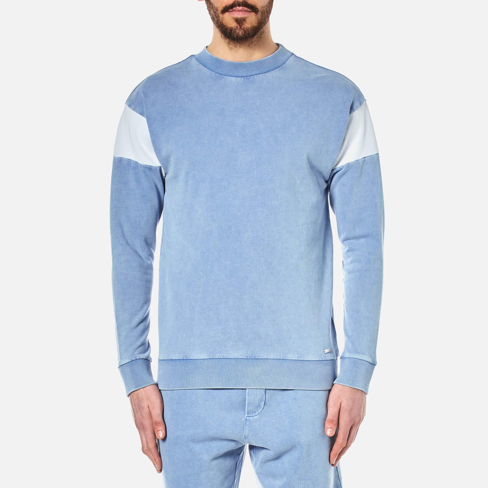 bec940ebb BOSS Orange Men's Wham Crew Neck Sweatshirt in Blue for Men - Lyst