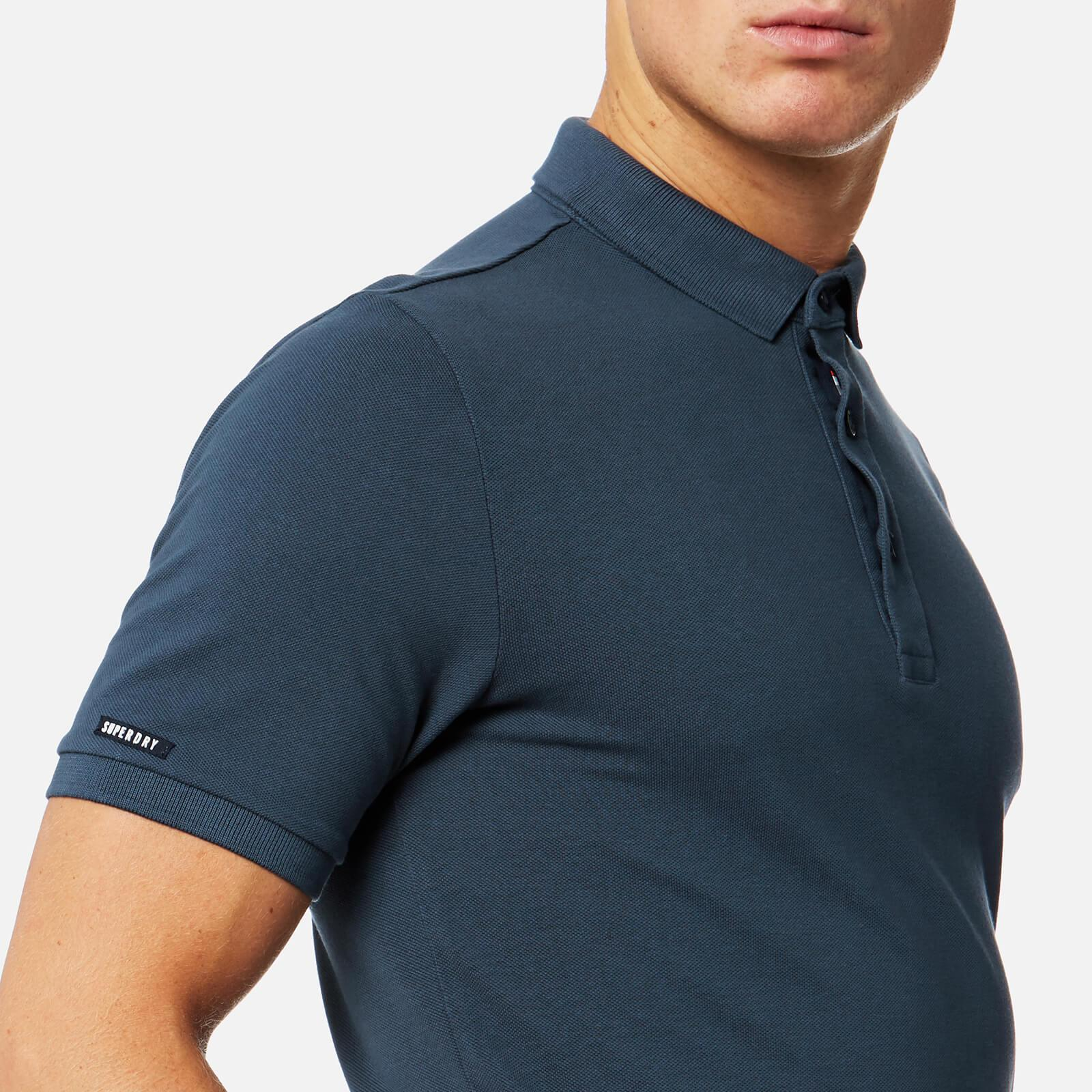 Superdry Cotton Classic City Polo Shirt in Grey (Grey) for Men