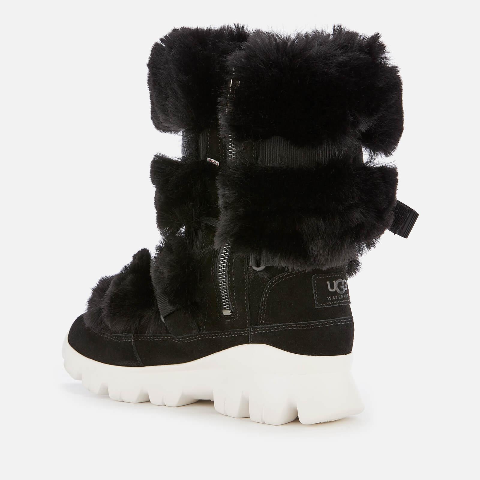 Ugg Misty Faux Fur Waterproof Boots In Black Lyst