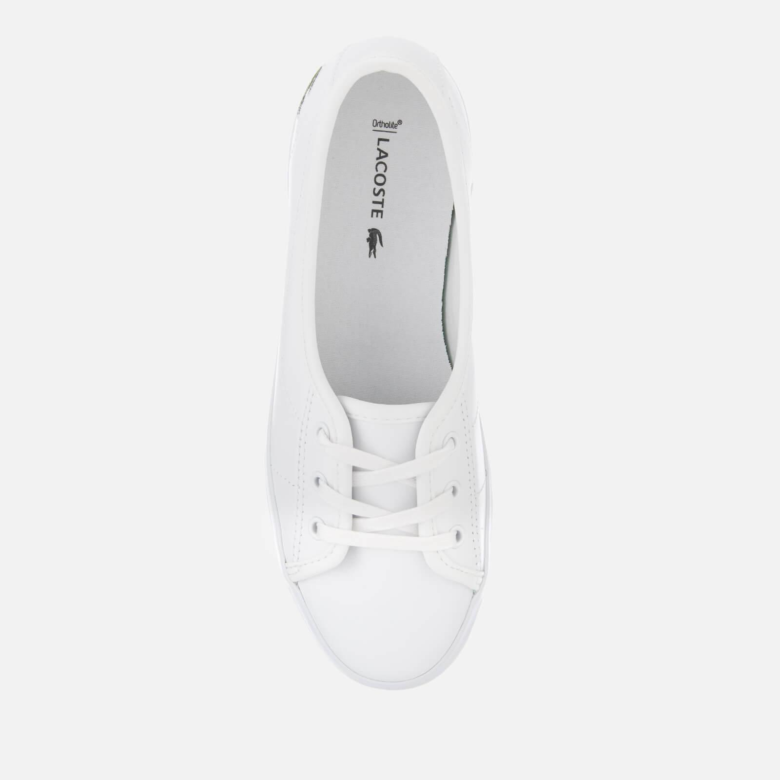 908889855 Lacoste - White Ziane Chunky Bl Leather 3-eye Pumps - Lyst. View fullscreen