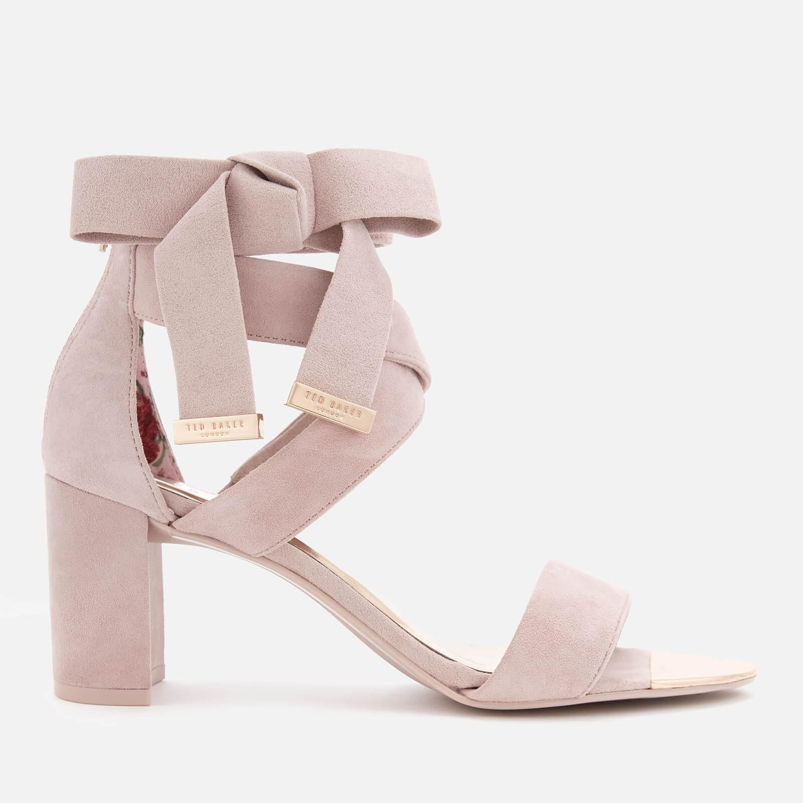 72a62813bf08 Lyst - Ted Baker Noxen 2 Suede Block Heeled Sandals in Pink