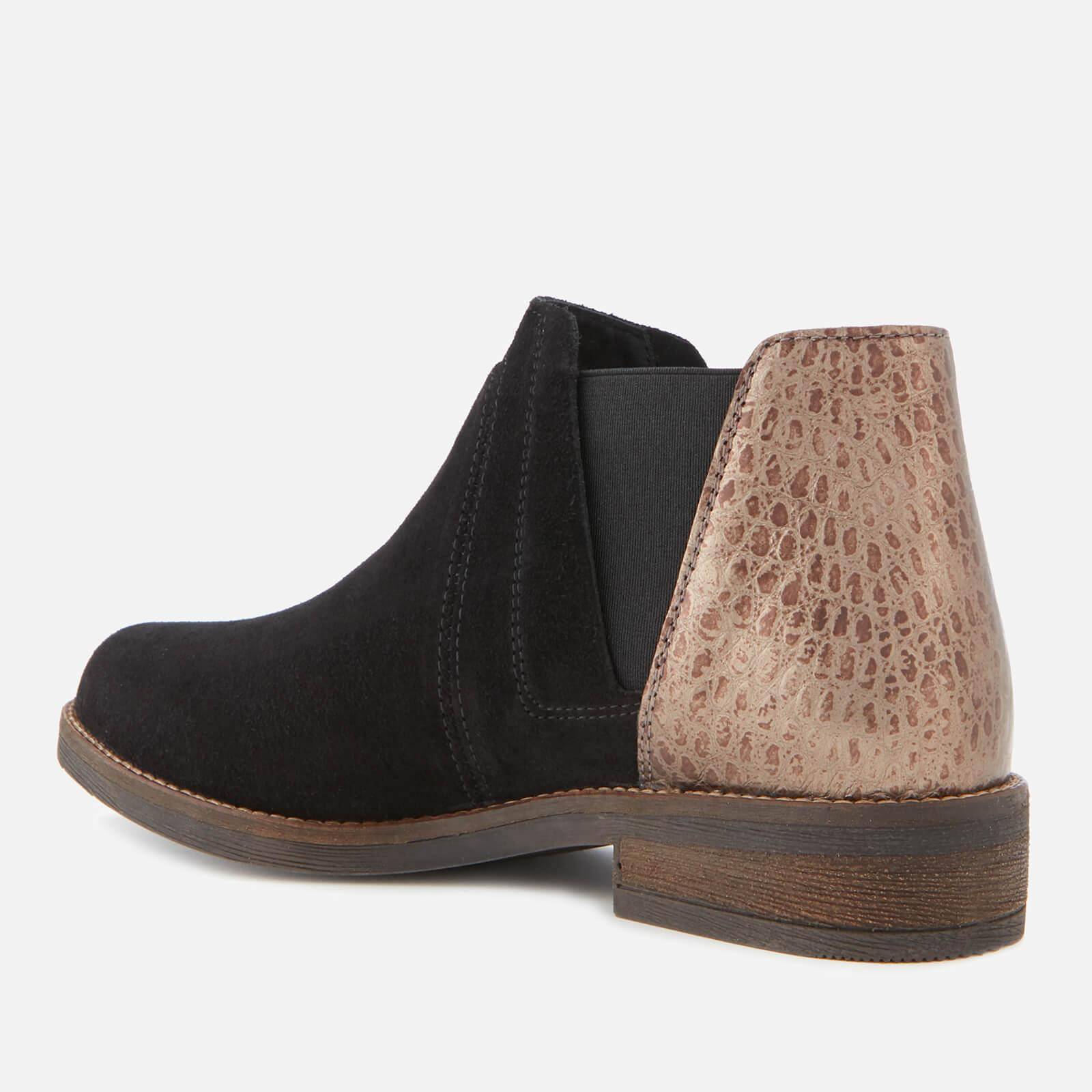Clarks Demi Beat Suede Ankle Boots In Black Lyst