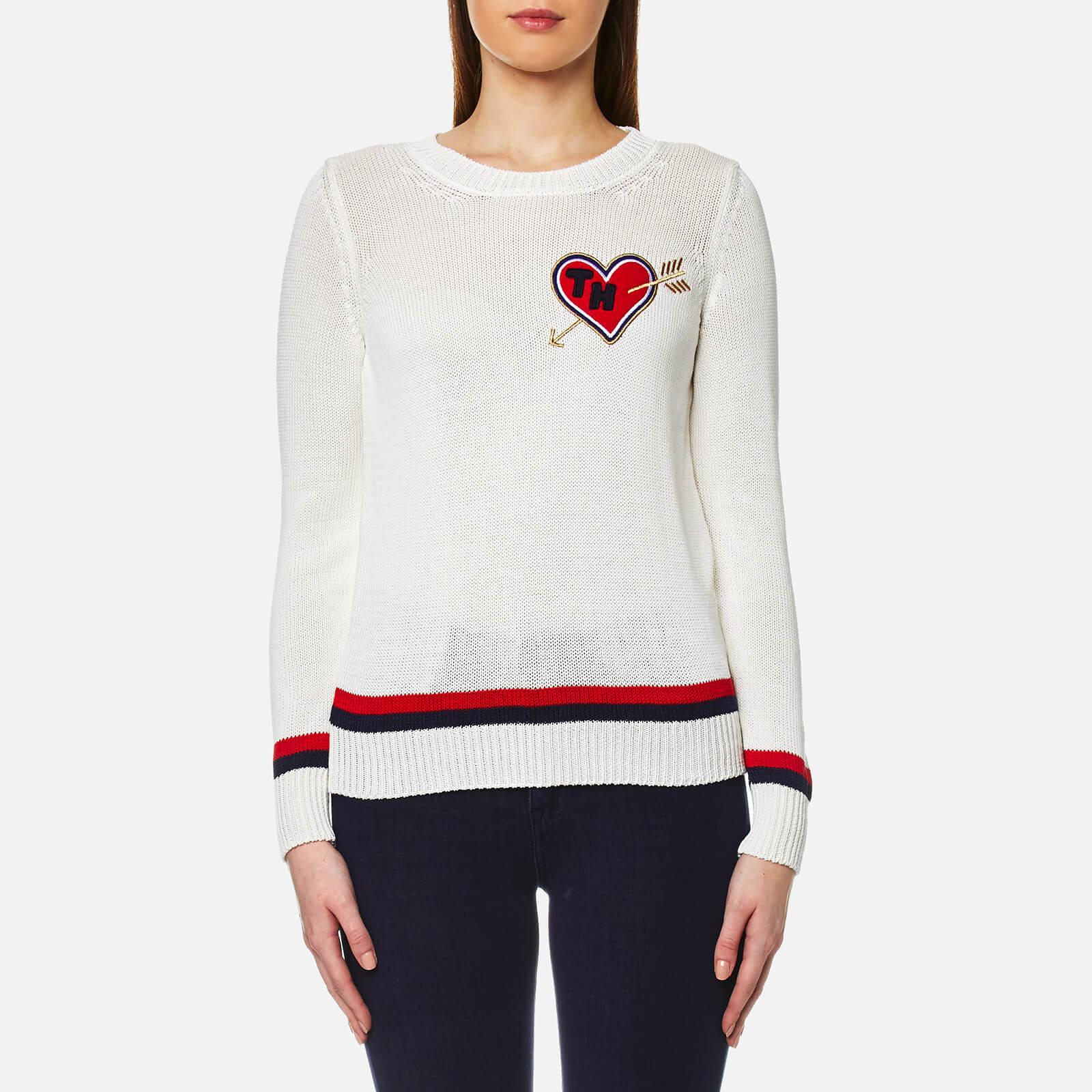 lyst tommy hilfiger estro tipping sweatshirt in white. Black Bedroom Furniture Sets. Home Design Ideas