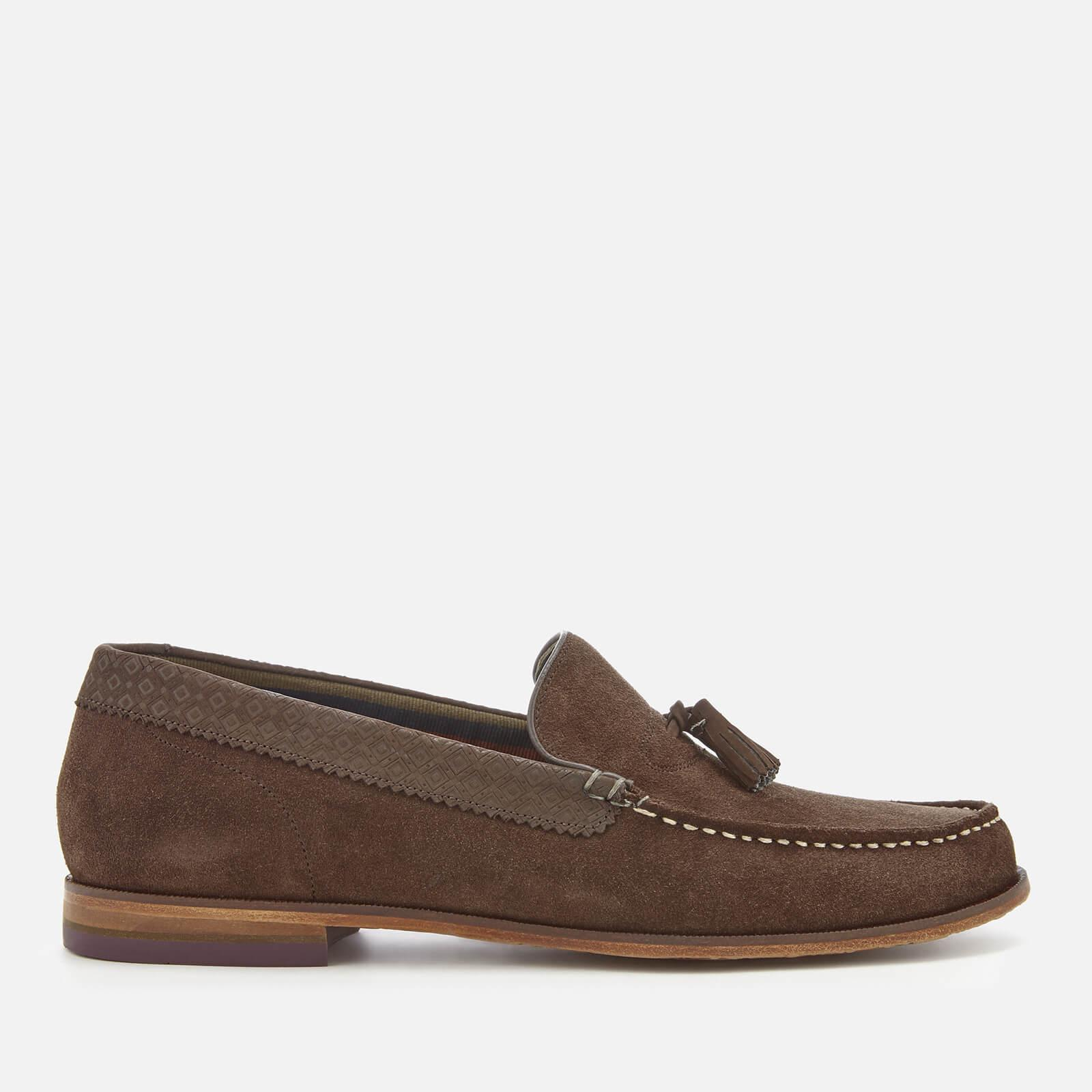 Ted Baker Dougge 2 Suede Tassel Loafers in Brown for Men