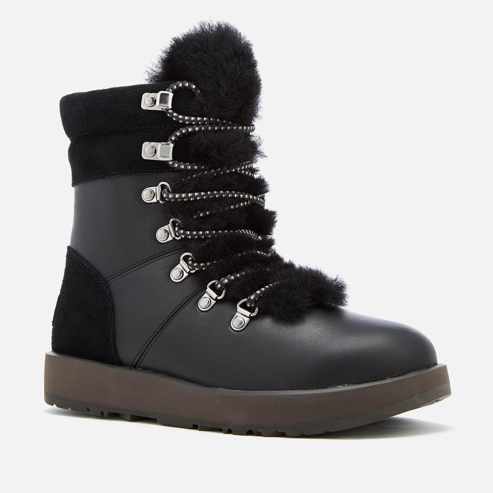cfdea8c9810 Ugg Black Viki Waterproof Leather Lace Up Boots