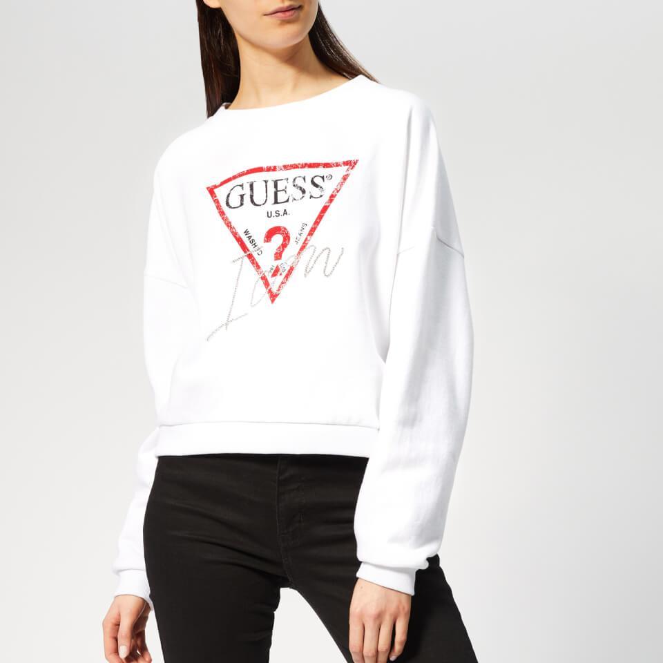 Guess Damen Basic Icon Fleece Sweatshirt