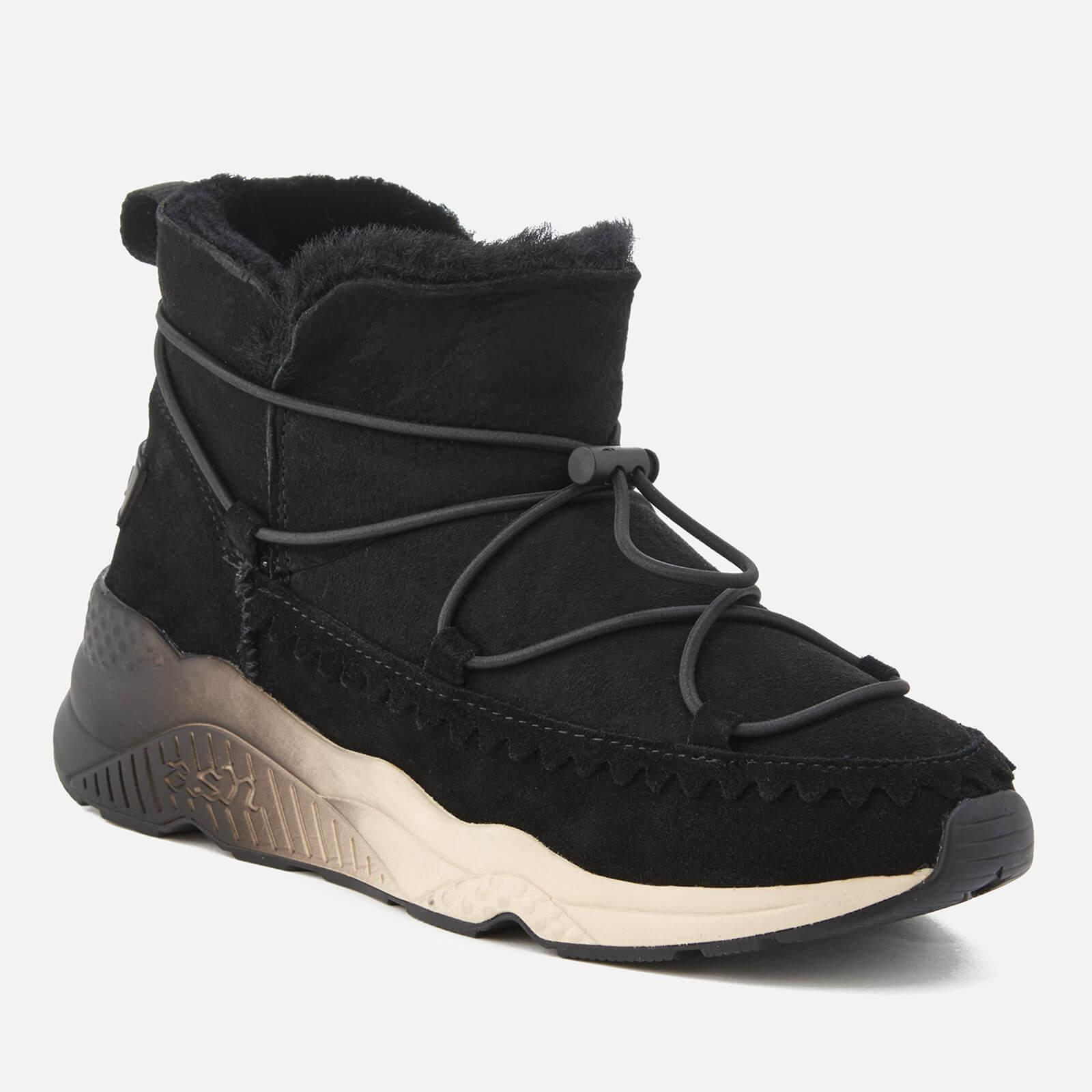 Ash Mitsouko Suede Ankle Boots in Black