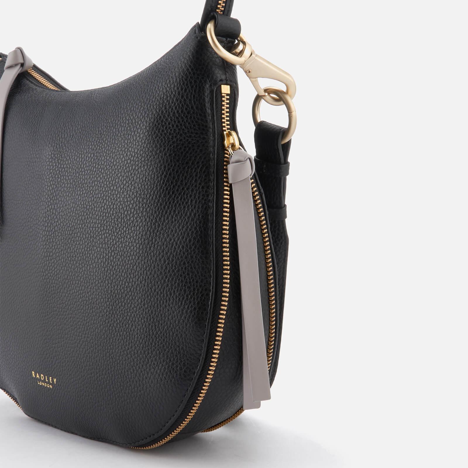 Radley Leather Pudding Lane Large Ziptop Cross Body Bag in Black