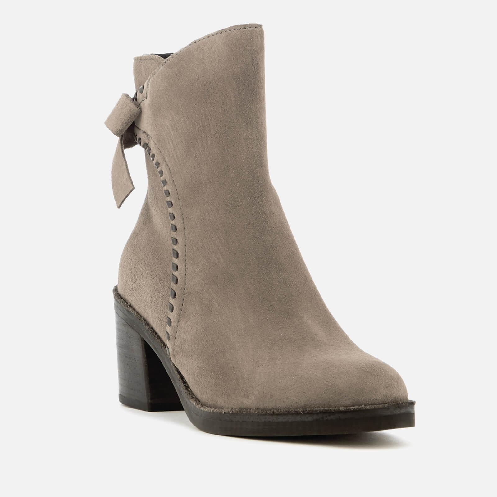 b774210dadb Ugg - Gray Fraise Whipstitch Suede Heeled Ankle Boots - Lyst